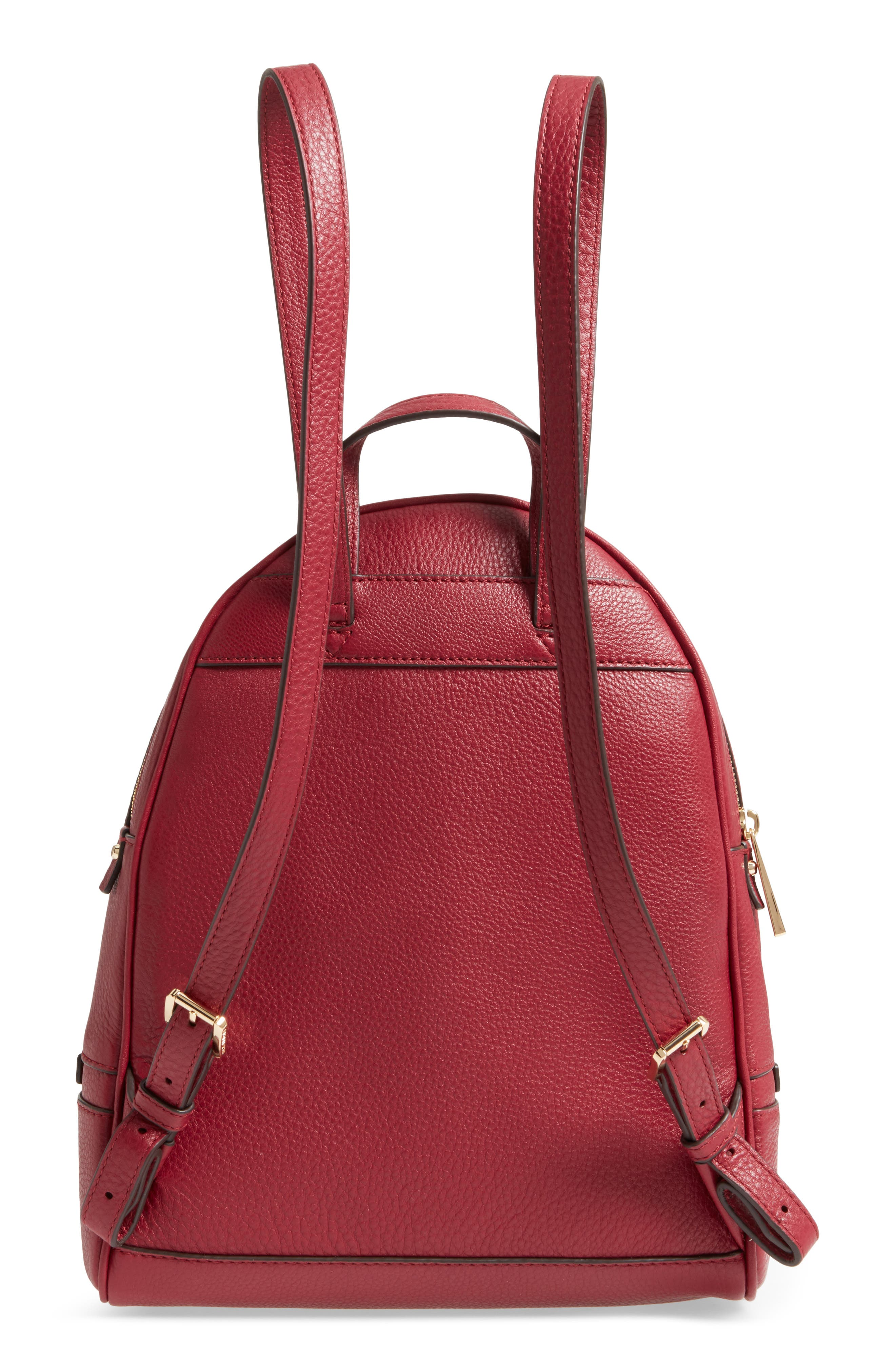'Extra Small Rhea Zip' Leather Backpack,                             Alternate thumbnail 3, color,                             646