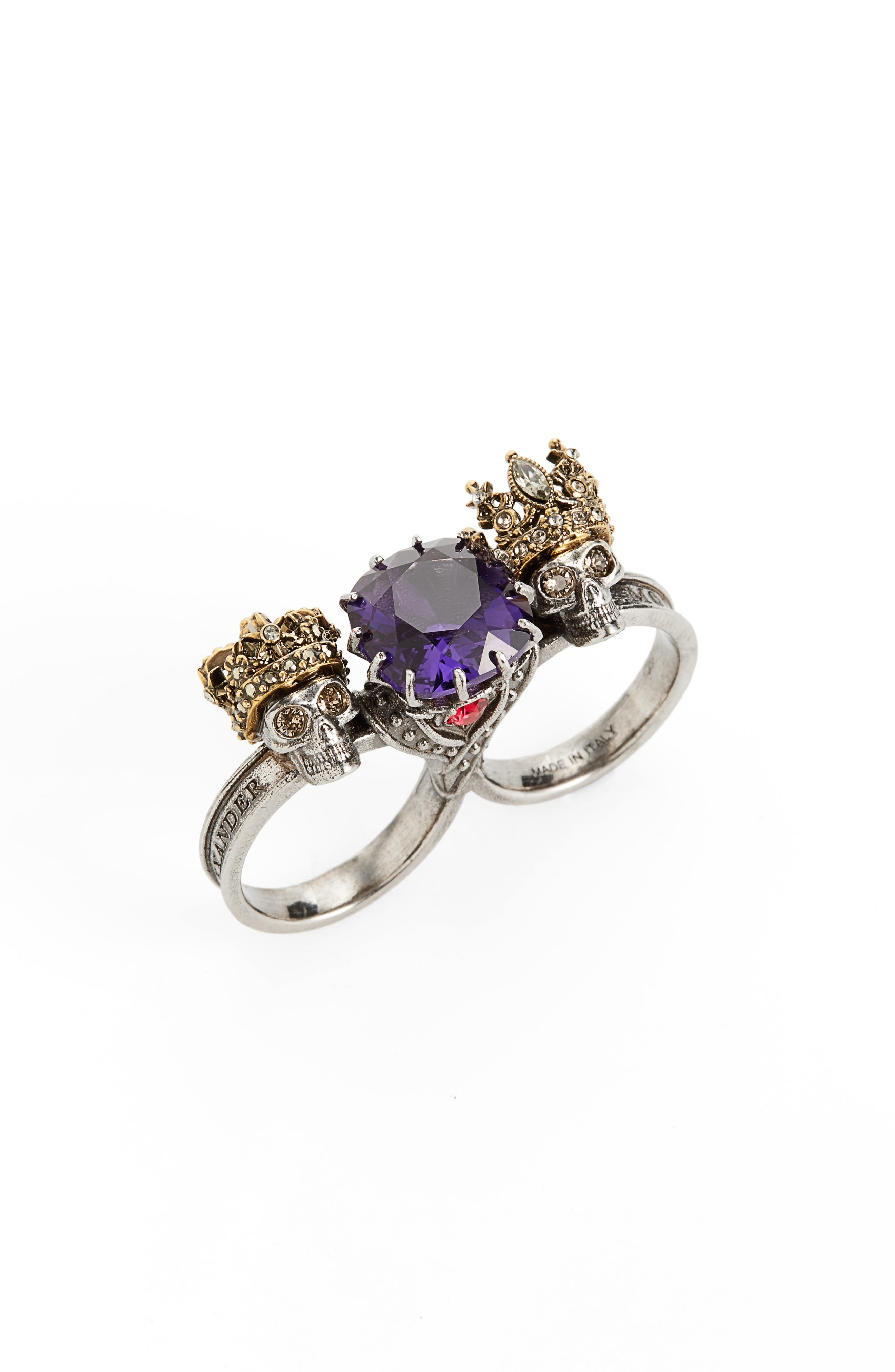 Jewel Double Ring,                             Main thumbnail 1, color,                             500