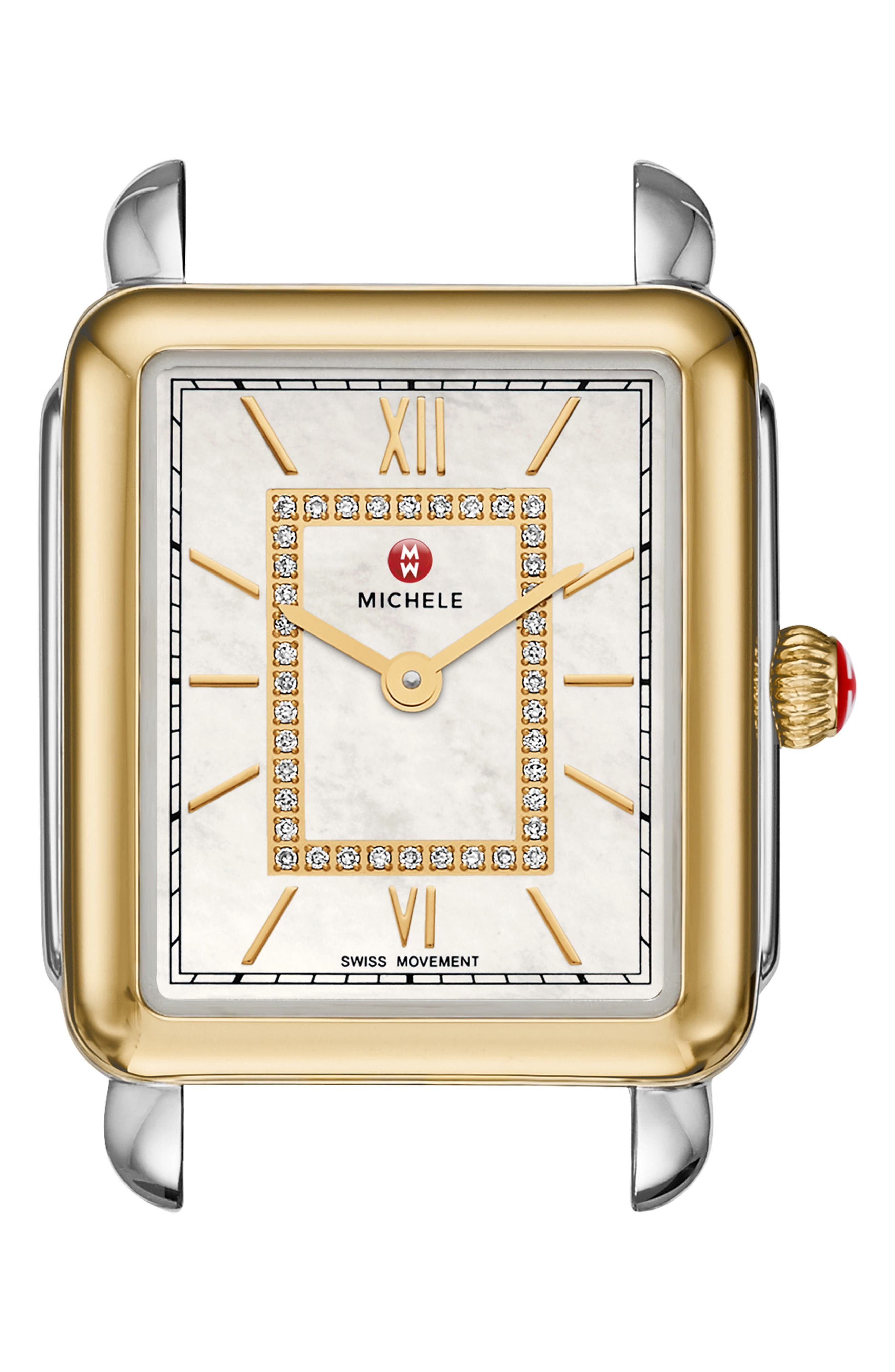 Deco II Mid Diamond Watch Head, 25mm x 30mm,                             Main thumbnail 1, color,                             710