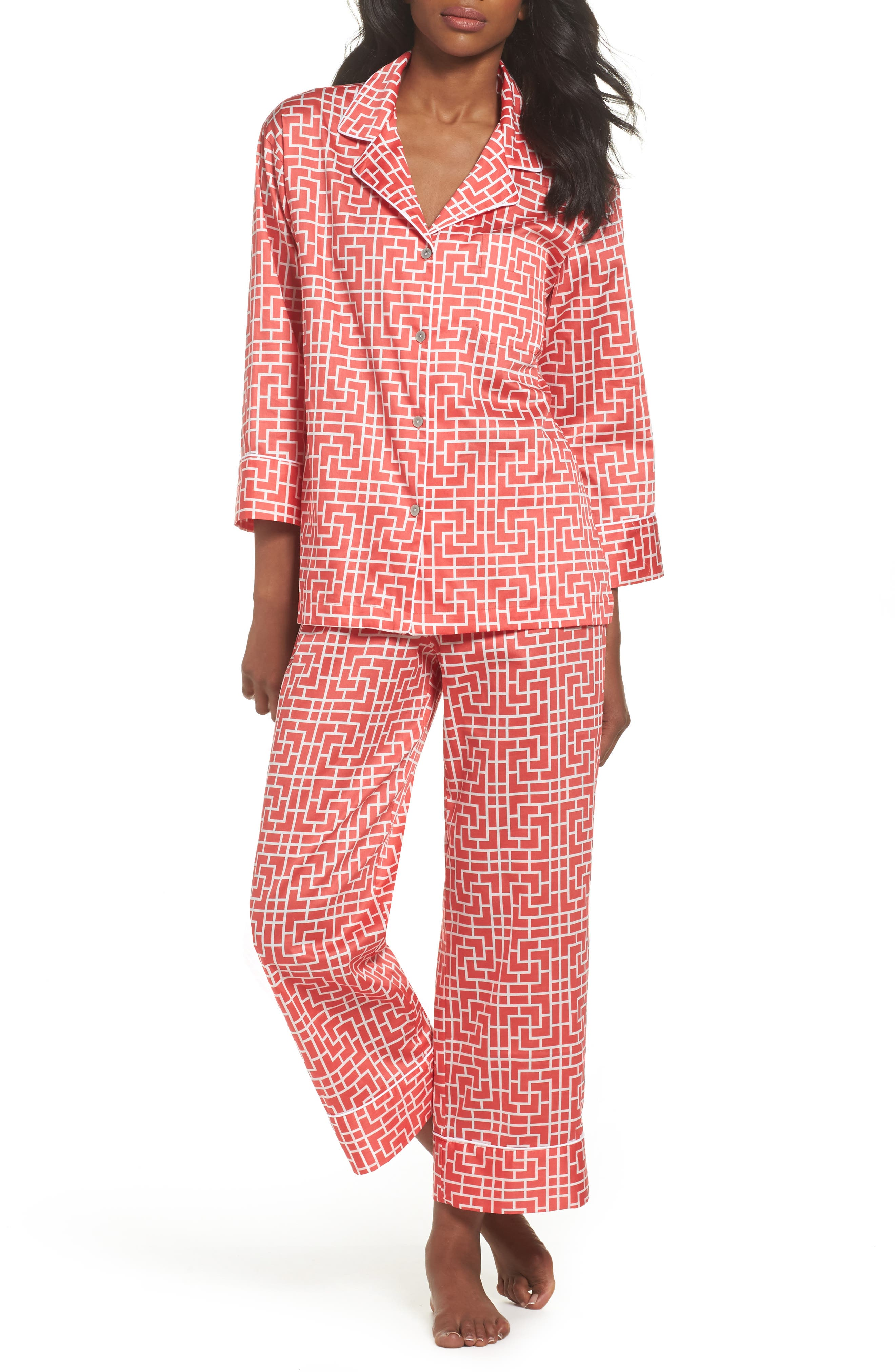 Abstract Maze Sateen Pajamas,                             Main thumbnail 2, color,