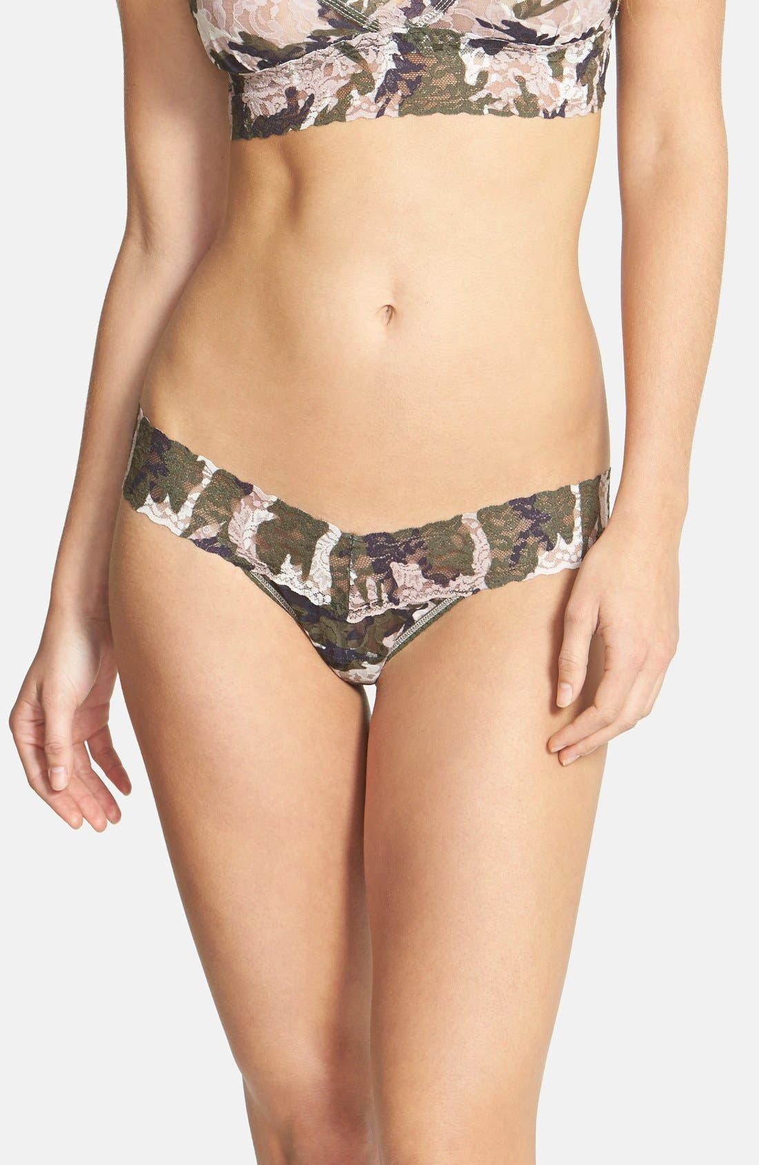 'Hunter' Low Rise Thong,                         Main,                         color, TAUPE GREEN