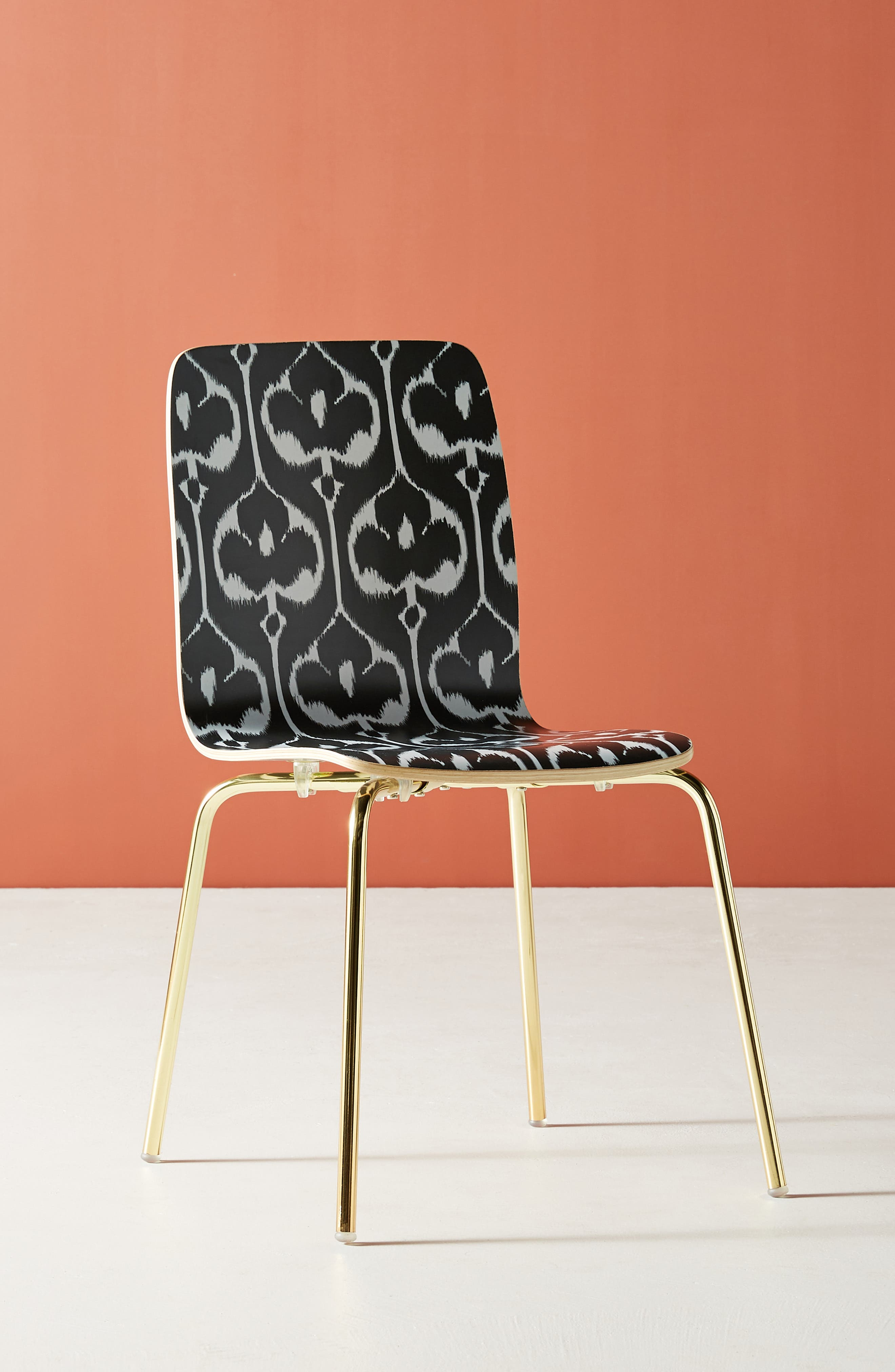 Ikat Tamsin Dining Chair,                             Alternate thumbnail 8, color,                             BLACK AND WHITE