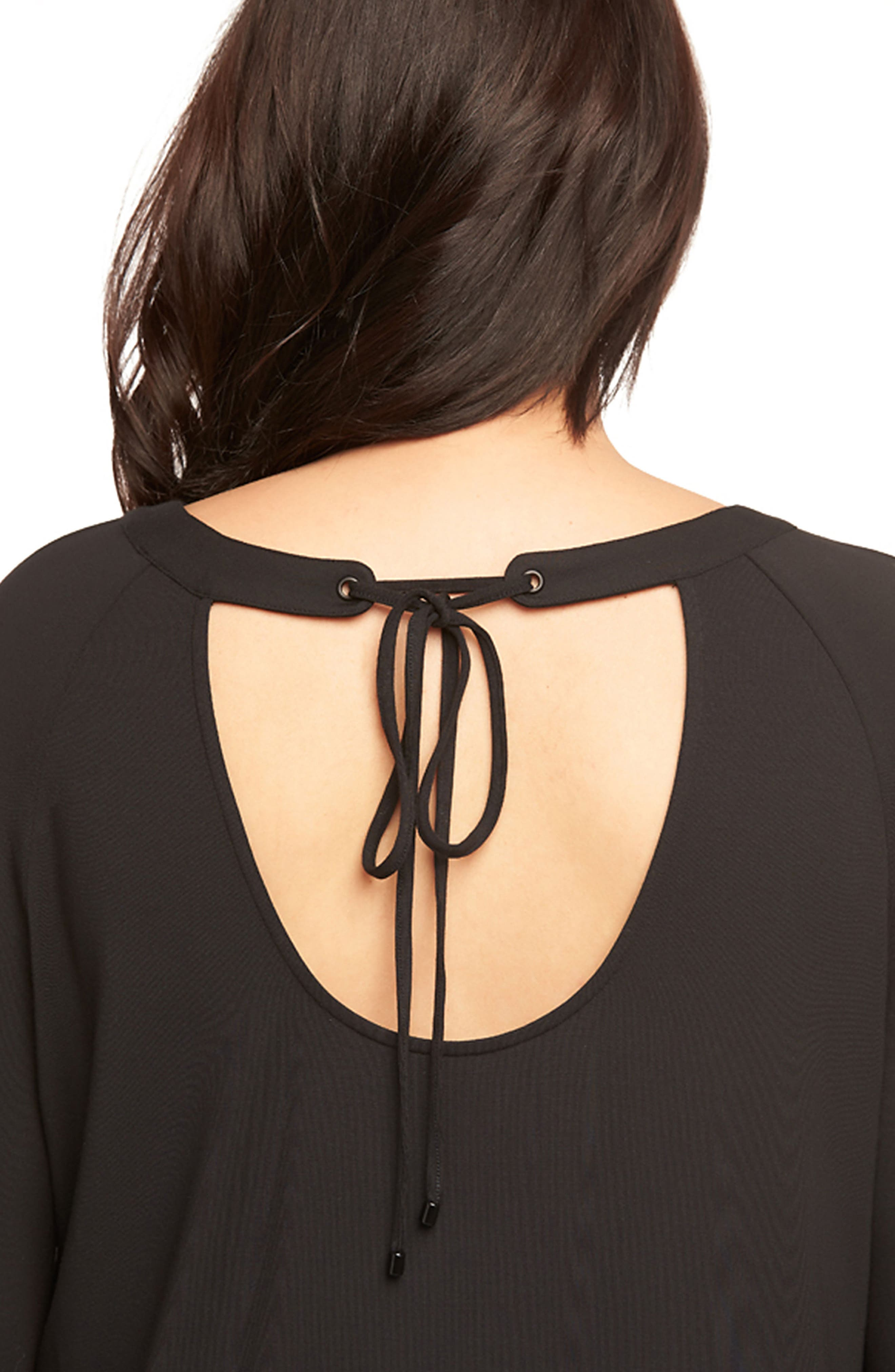 Alka Tie Back Top,                             Alternate thumbnail 4, color,                             001