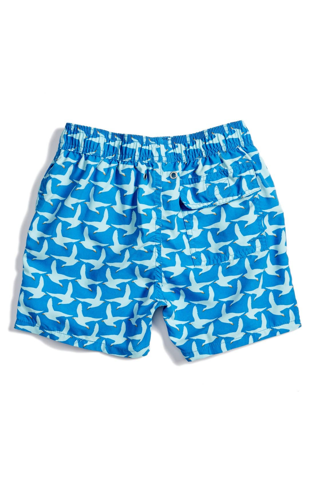 'Pattern Seagulls' Swim Trunks,                             Alternate thumbnail 2, color,                             COBALT BLUE
