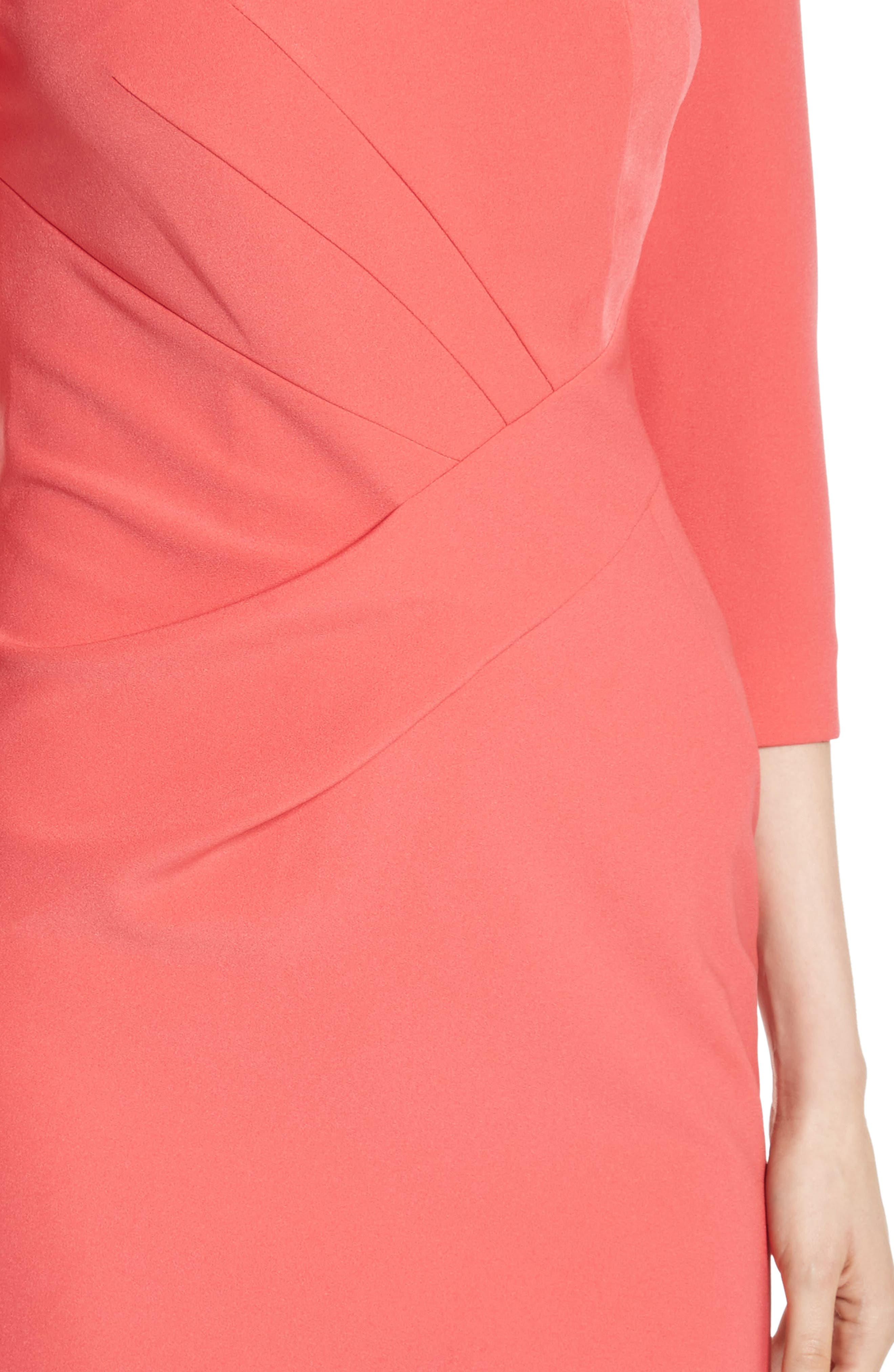 Stretch Crepe Dress,                             Alternate thumbnail 4, color,                             660