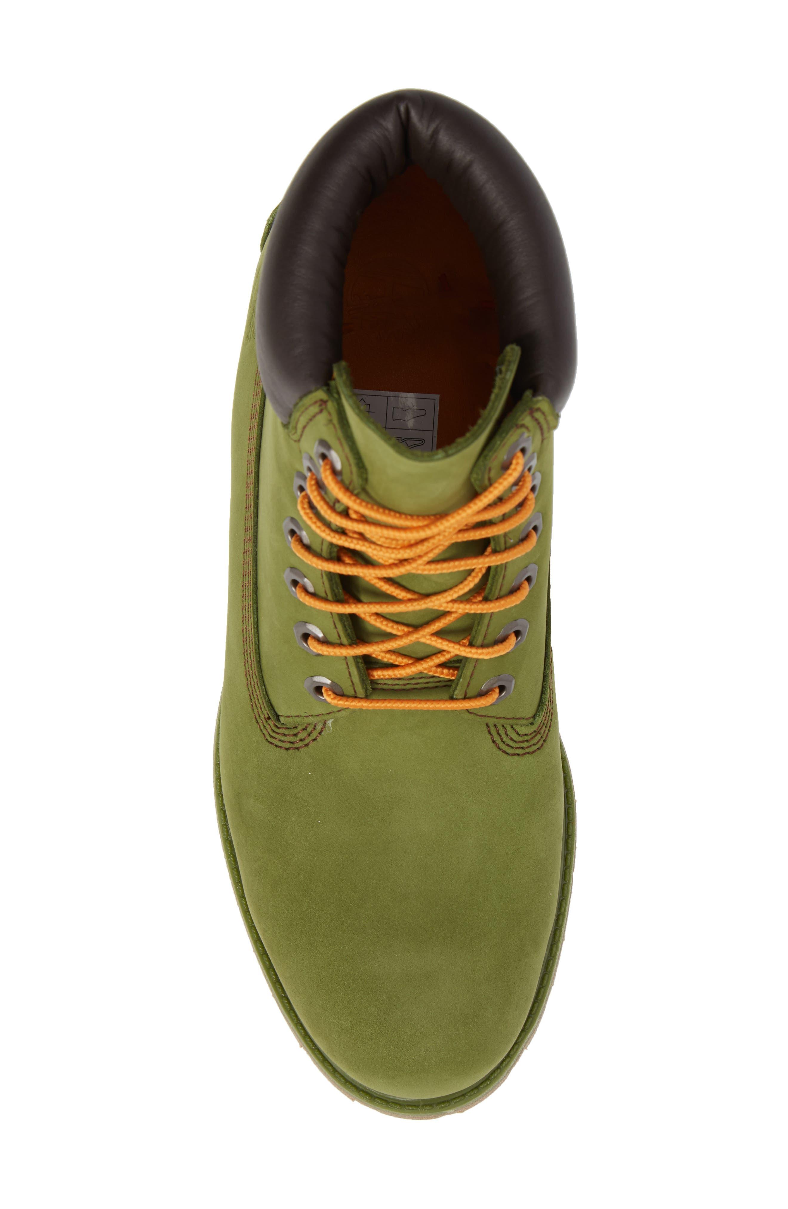 'Six Inch Classic Boots Series - Premium' Boot,                             Alternate thumbnail 5, color,                             PESTO WATERBUCK