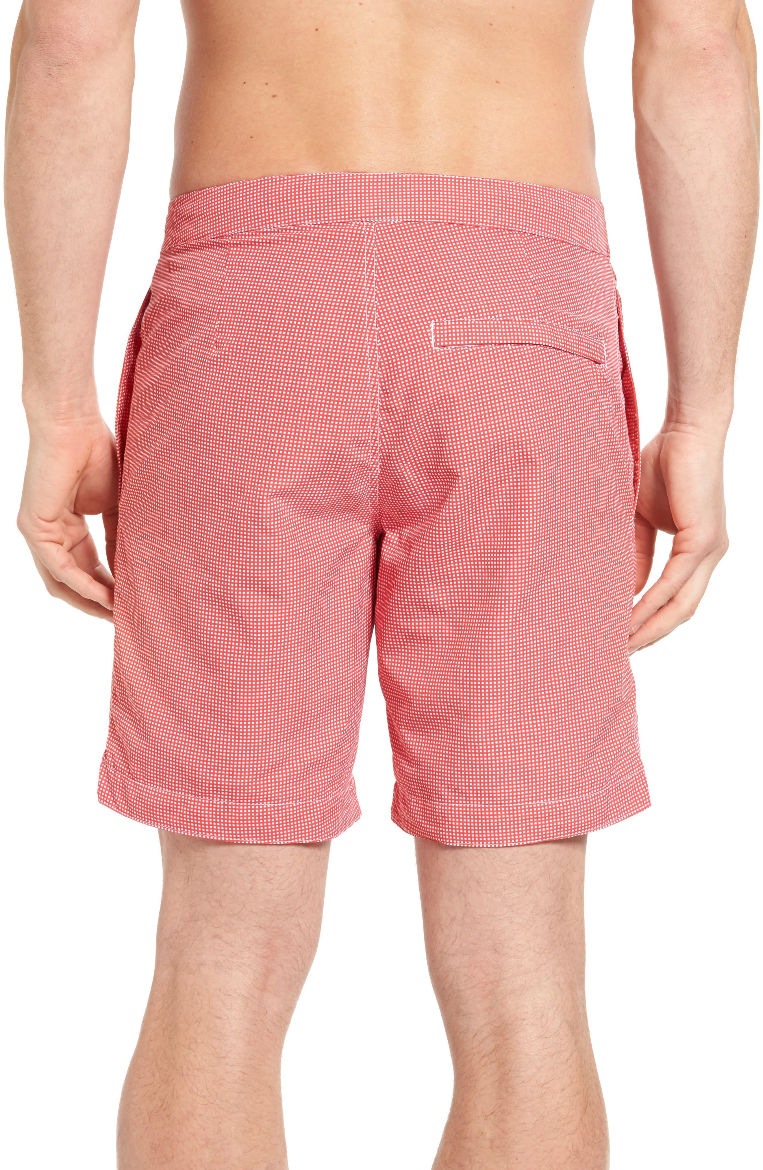 Aruba Microcheck Tailored Fit 8.5 Inch Swim Trunks,                             Alternate thumbnail 2, color,                             611