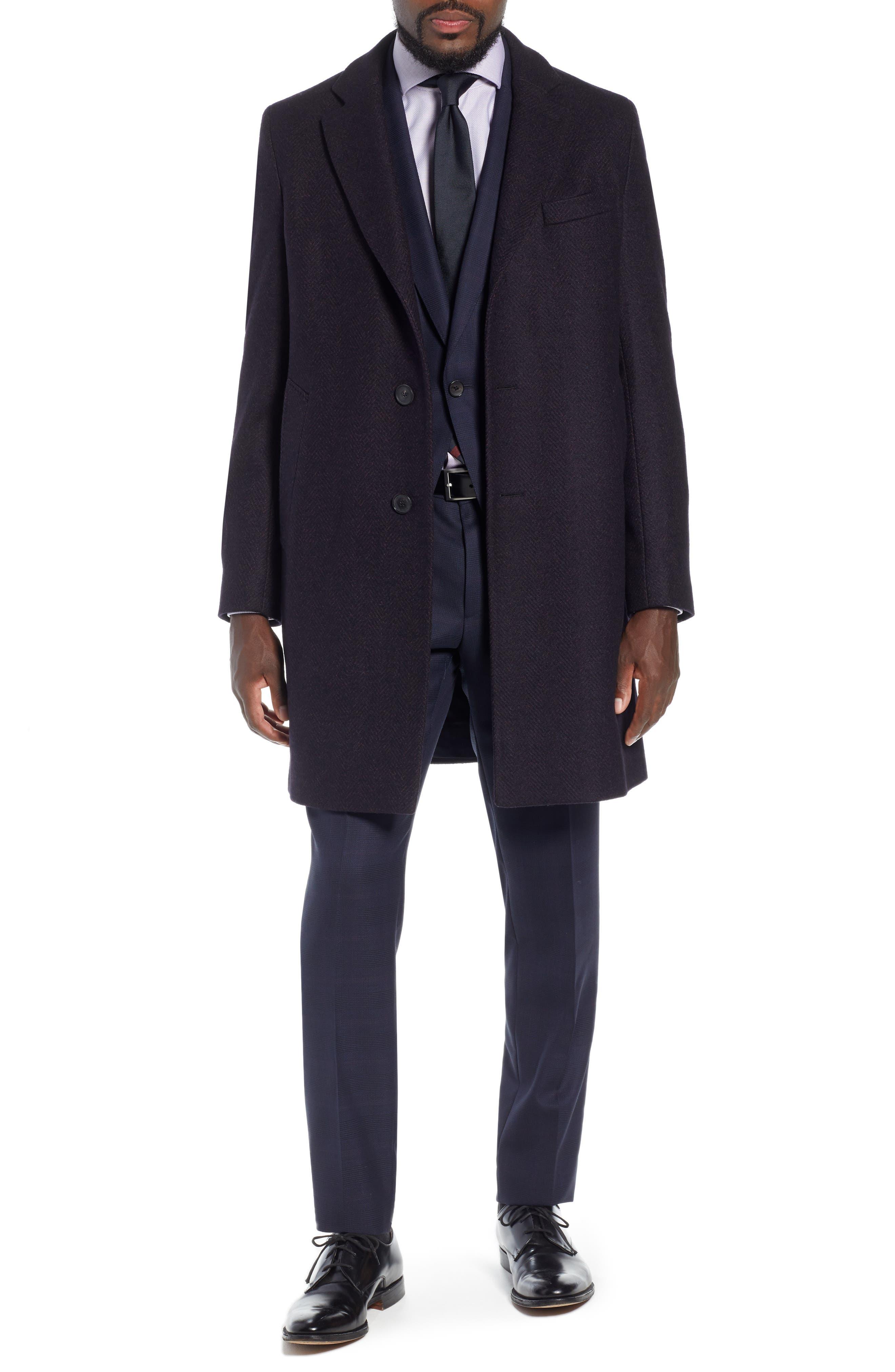 x Nordstrom Huge/Genius Trim Fit Plaid Wool Suit,                             Alternate thumbnail 11, color,                             NAVY