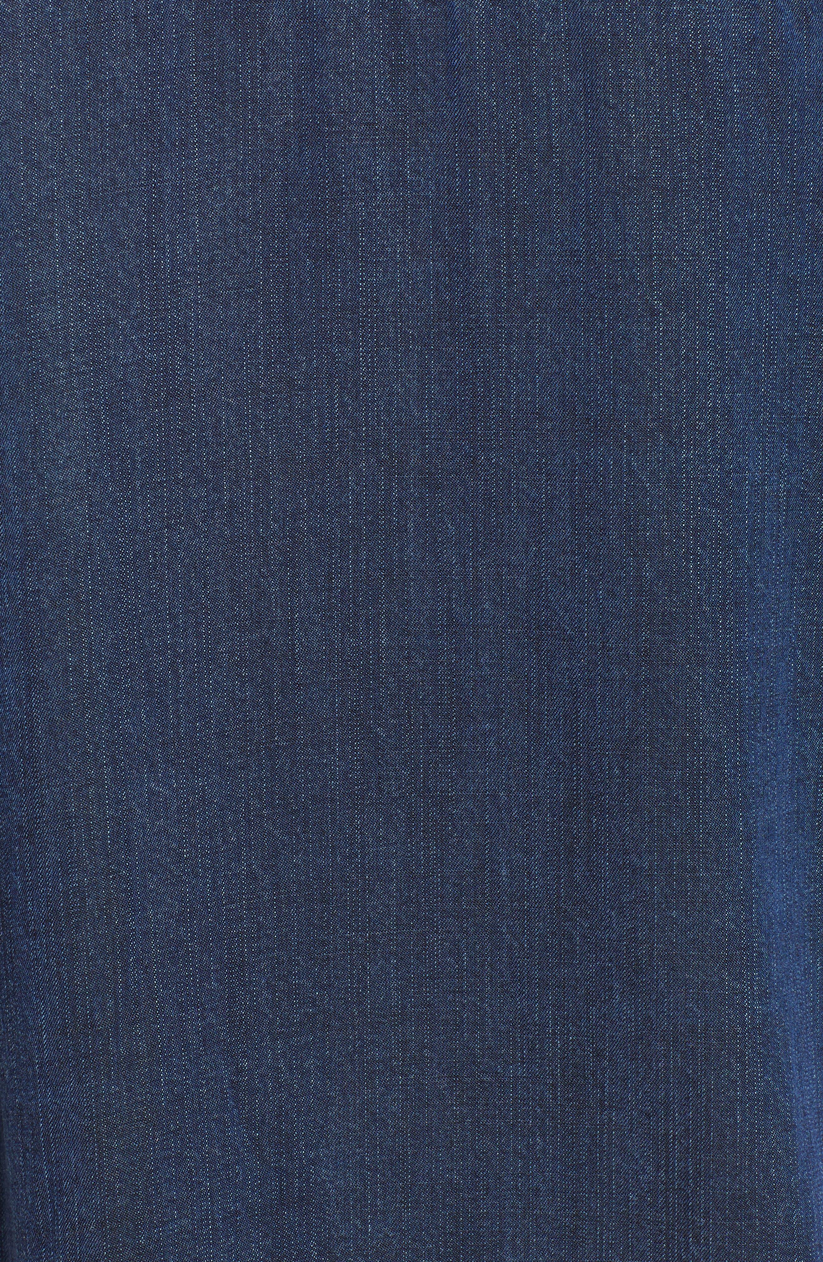 West Button Down Shirt,                             Alternate thumbnail 5, color,                             DARK VINTAGE LAPIS COAST WHITE