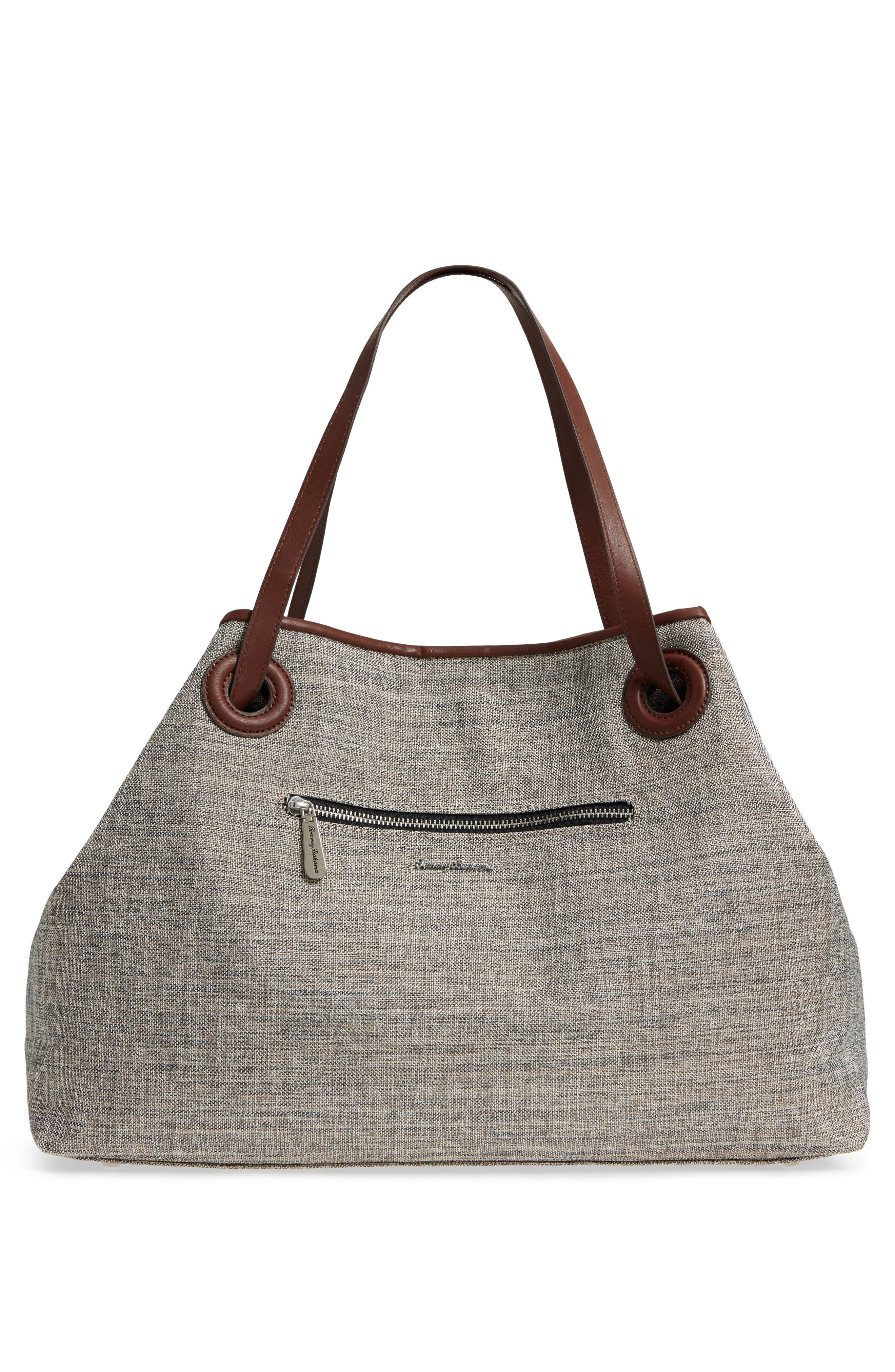 Waikiki Embroidered Canvas Tote,                             Alternate thumbnail 8, color,