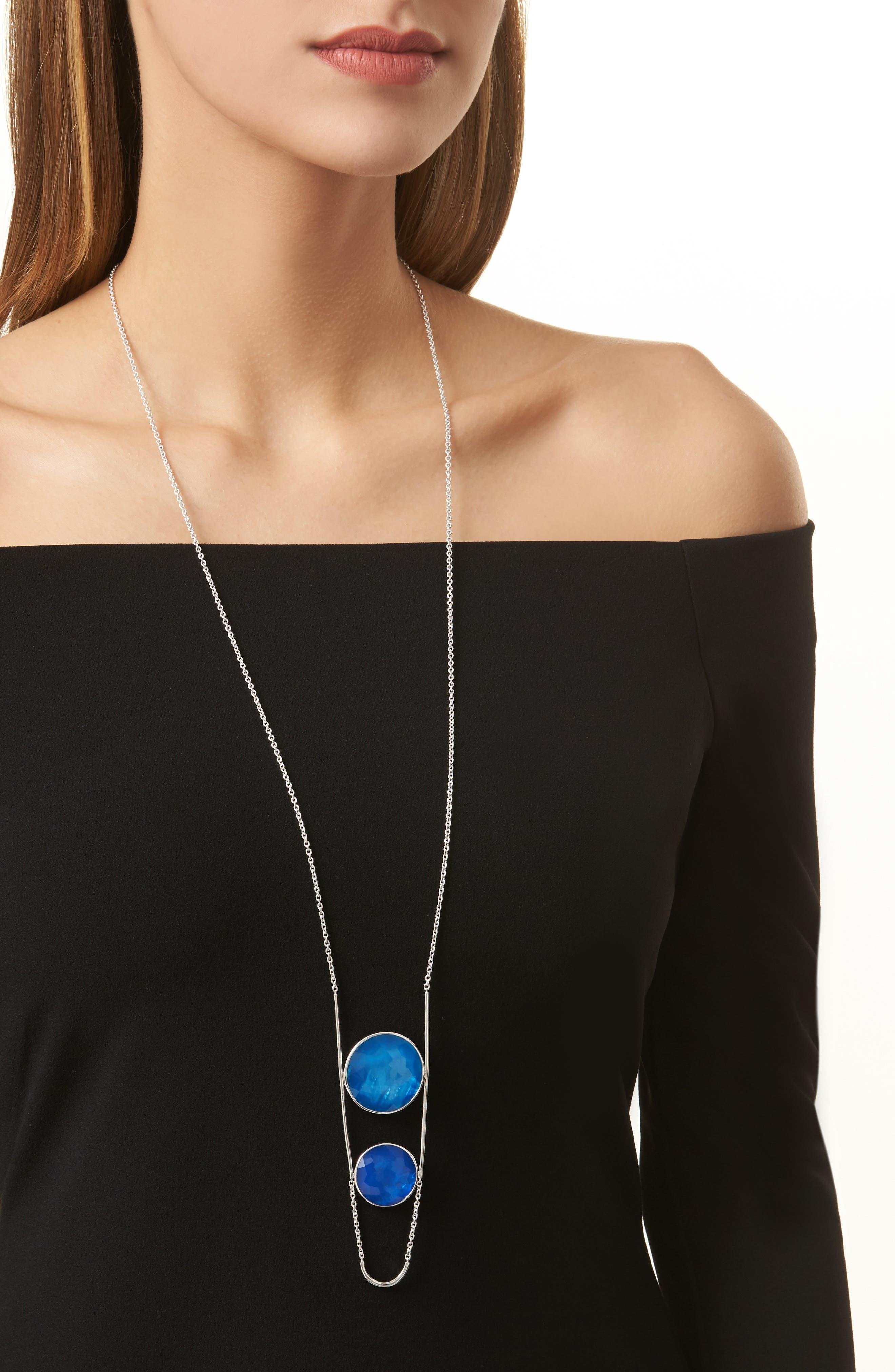 Wonderland Pendant Necklace,                             Alternate thumbnail 2, color,                             BLUE