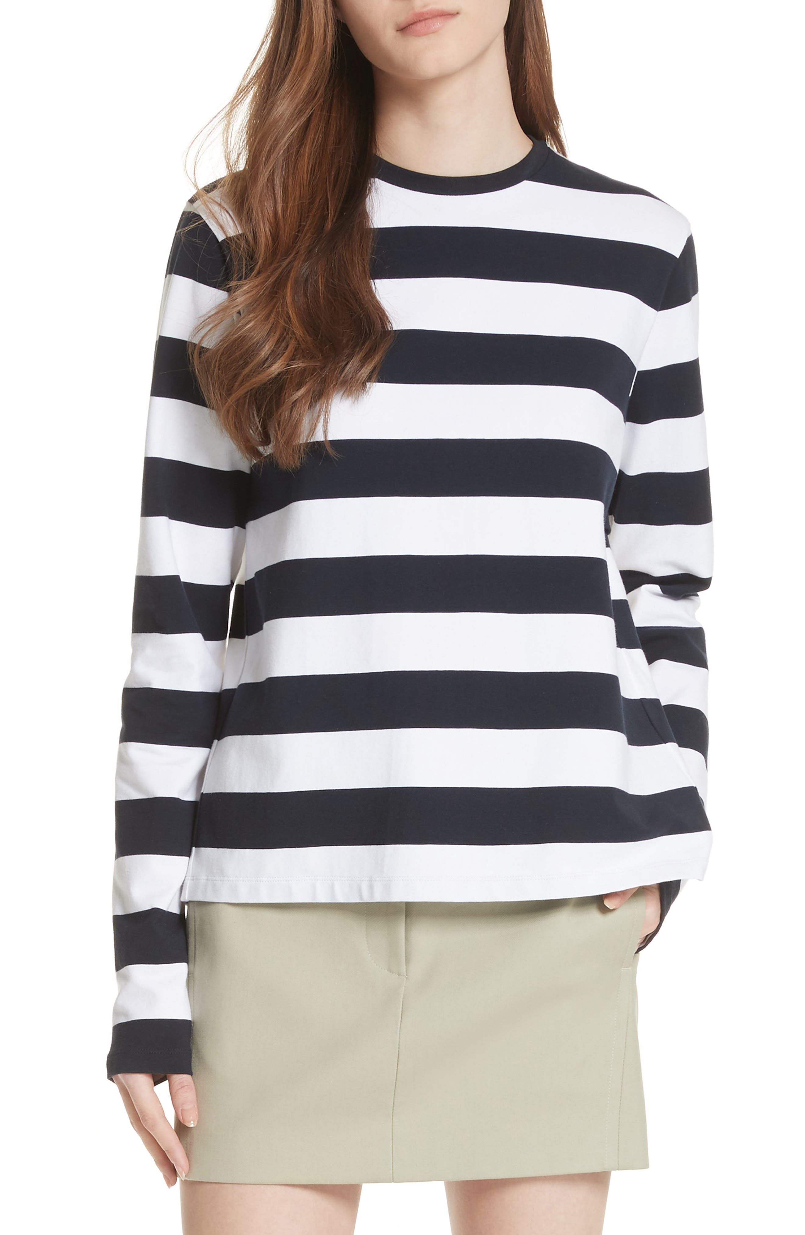 Long Sleeve Stripe Tee,                         Main,                         color, 412