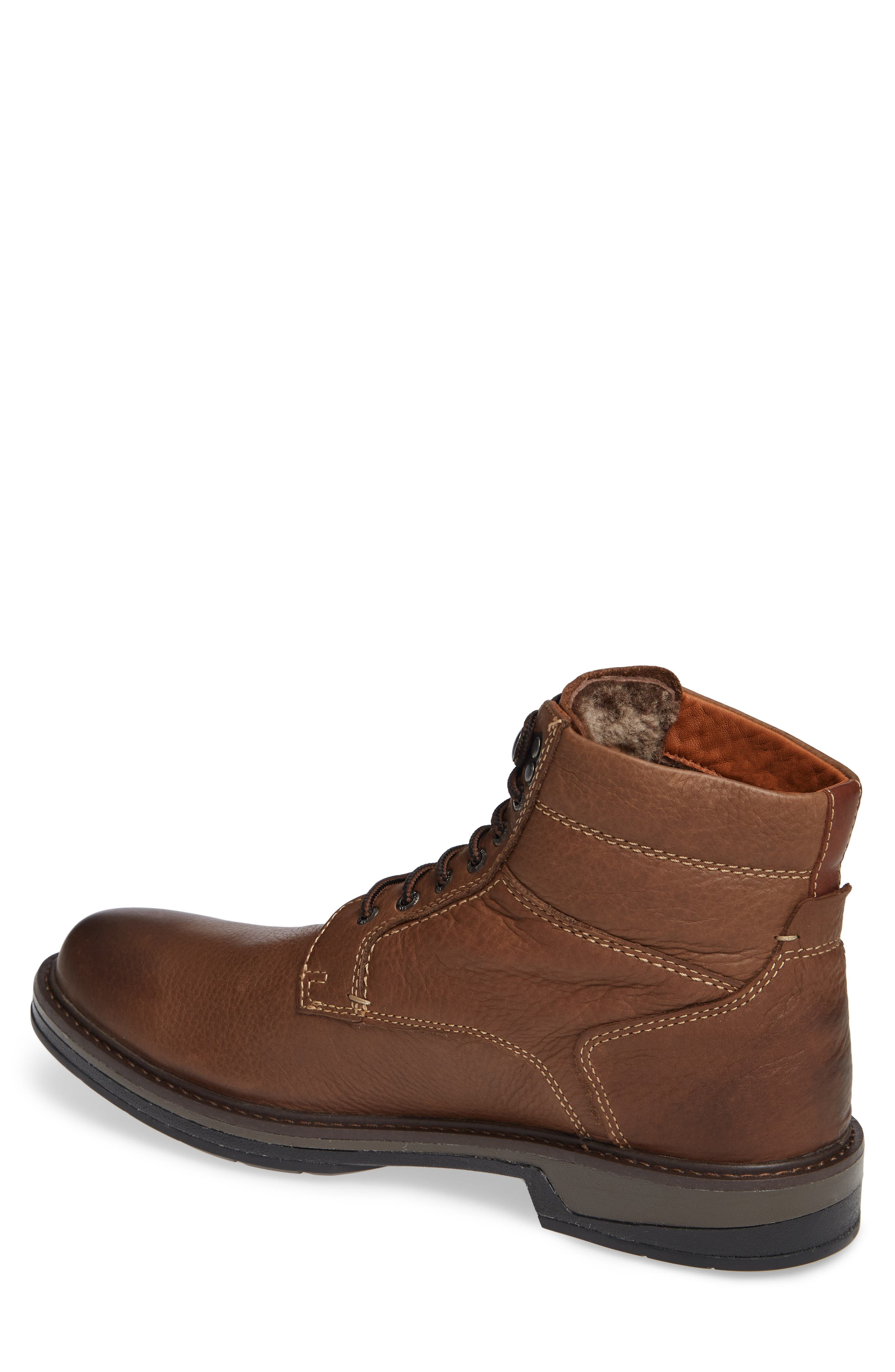 Rutledge Genuine Shearling Lined Waterproof Boot,                             Alternate thumbnail 2, color,                             BROWN OILED LEATHER