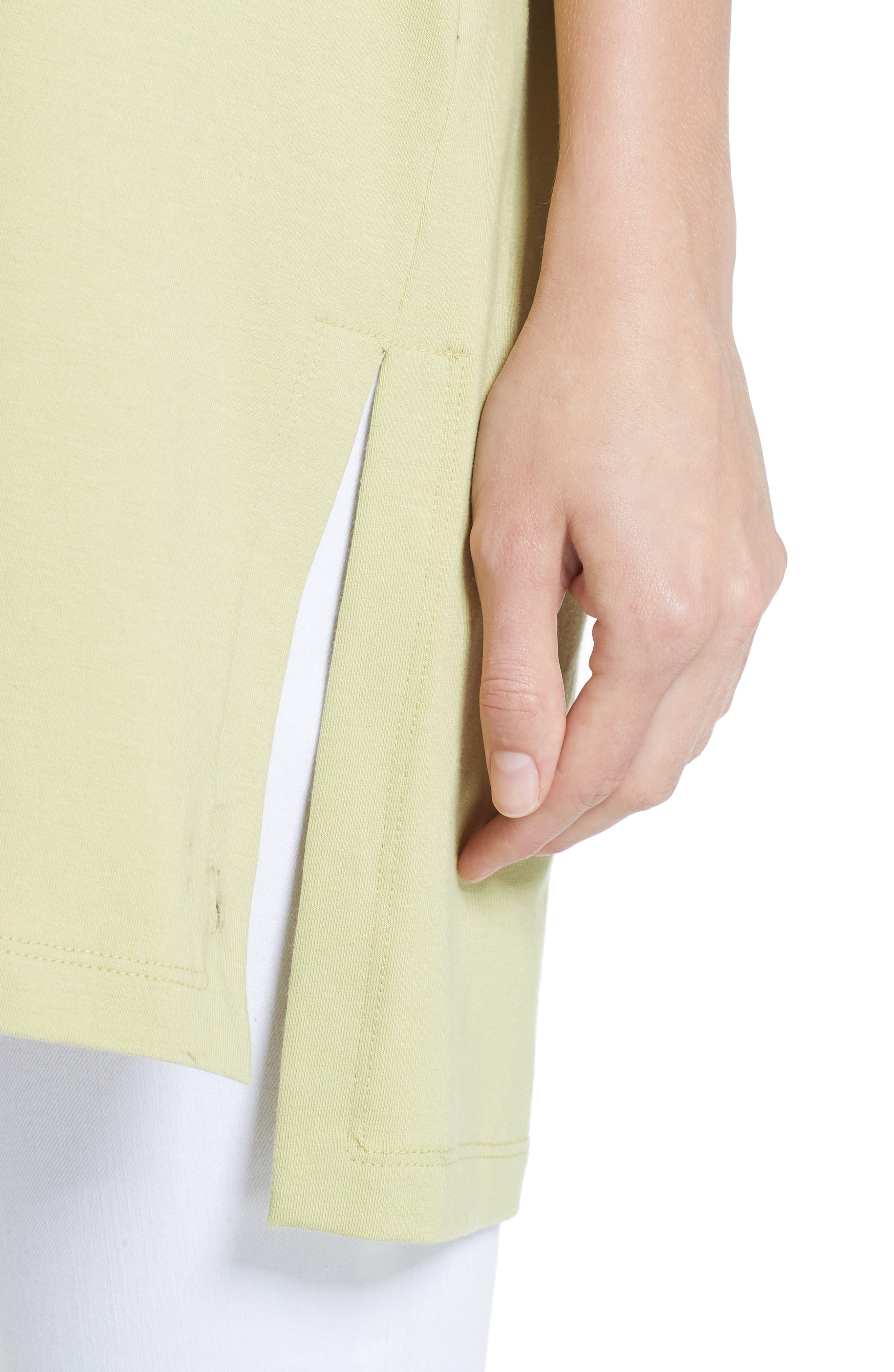 Stretch Organic Cotton Jersey Tunic,                             Alternate thumbnail 19, color,