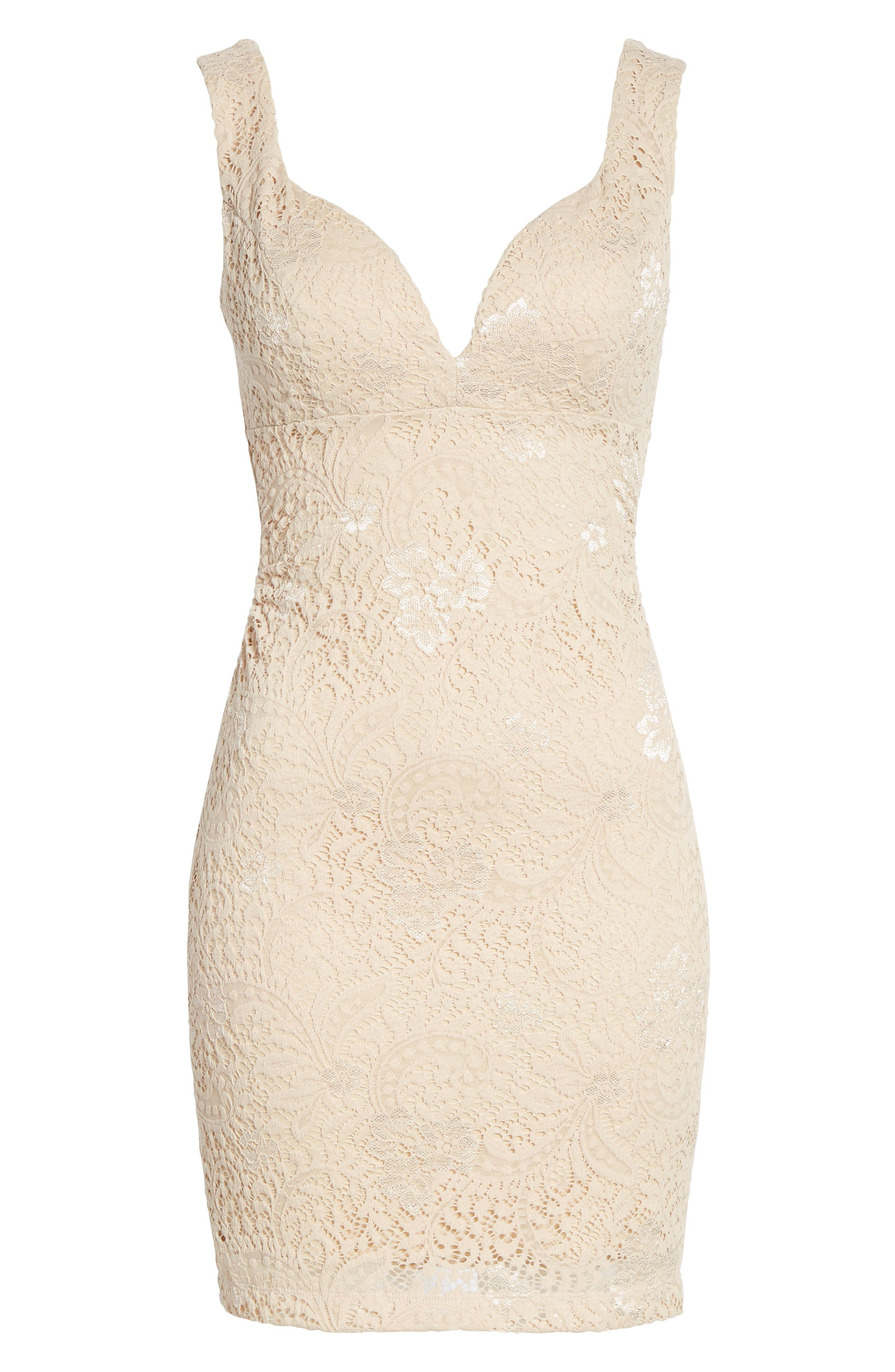 Love Nickie Lew Lace Body Con Dress,                             Alternate thumbnail 12, color,