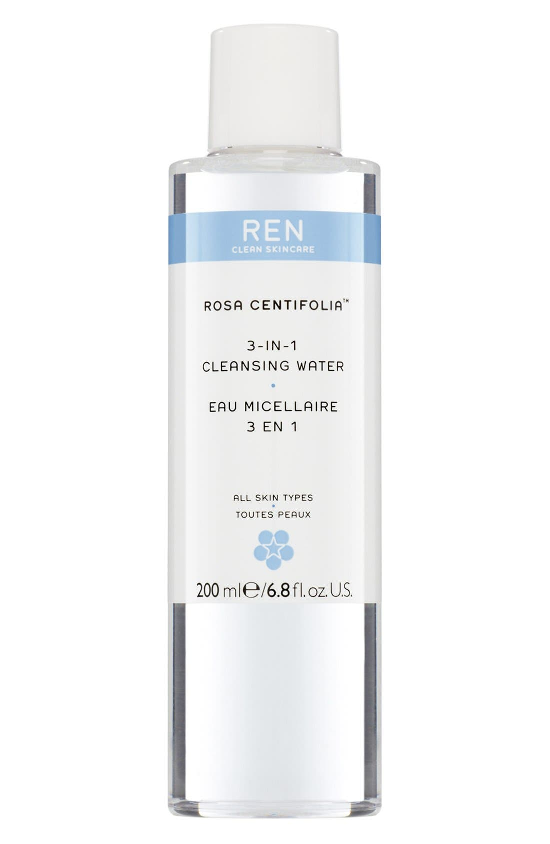 'Rosa Centifolia<sup>™</sup>' 3-in-1 Cleansing Water,                             Main thumbnail 1, color,                             000