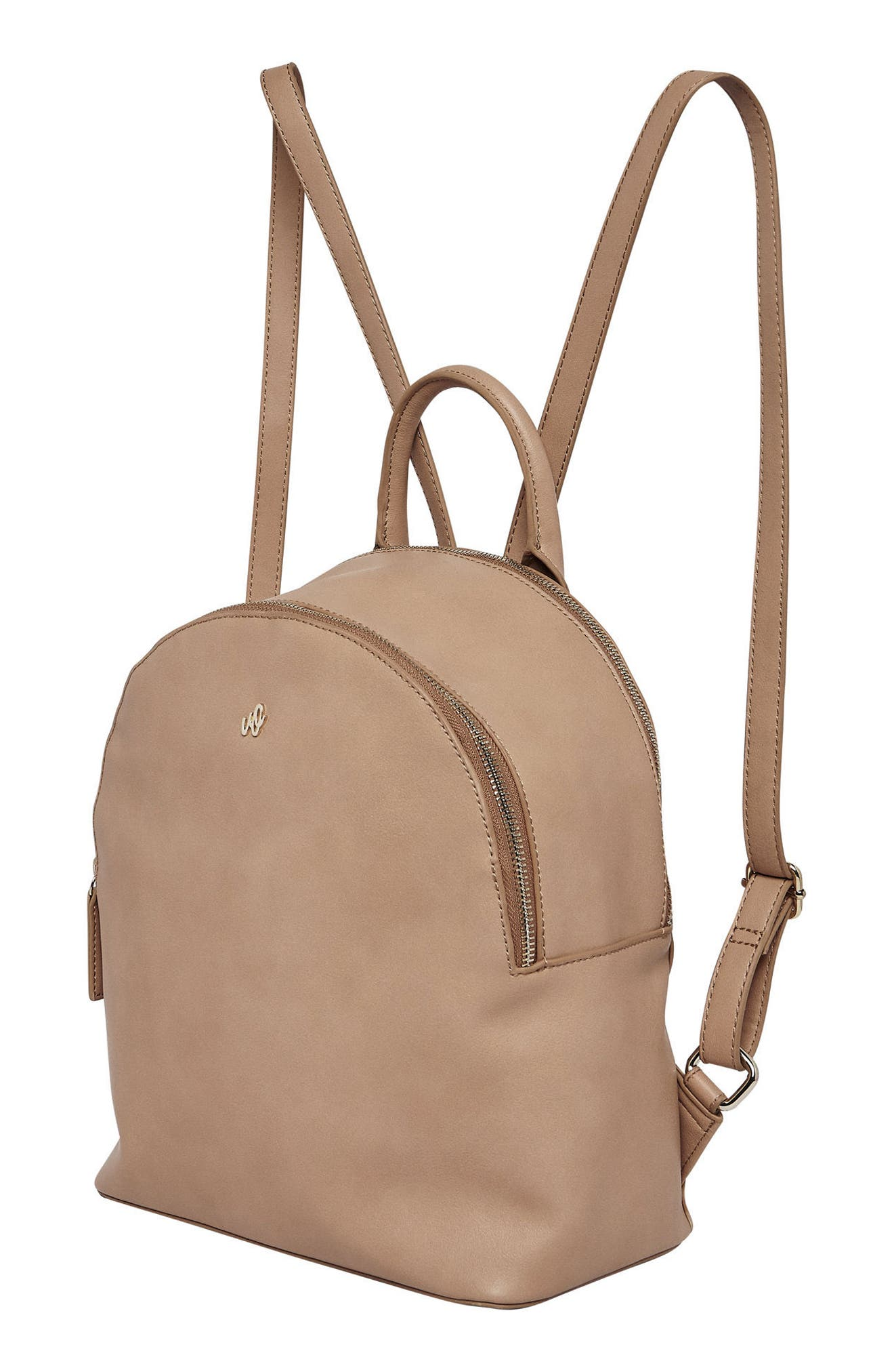 Magic Vegan Leather Backpack,                             Alternate thumbnail 5, color,                             CAMEL