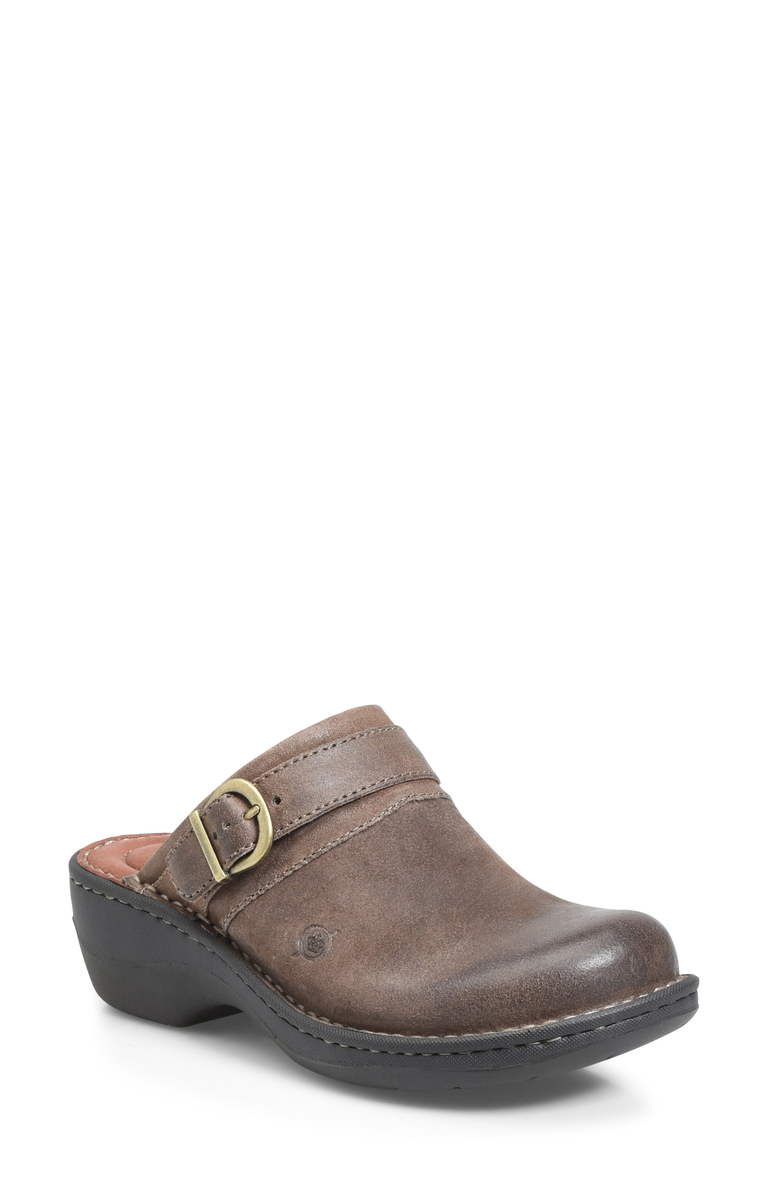 BØRN,                             Avoca Clog,                             Main thumbnail 1, color,                             TAUPE DISTRESSED LEATHER