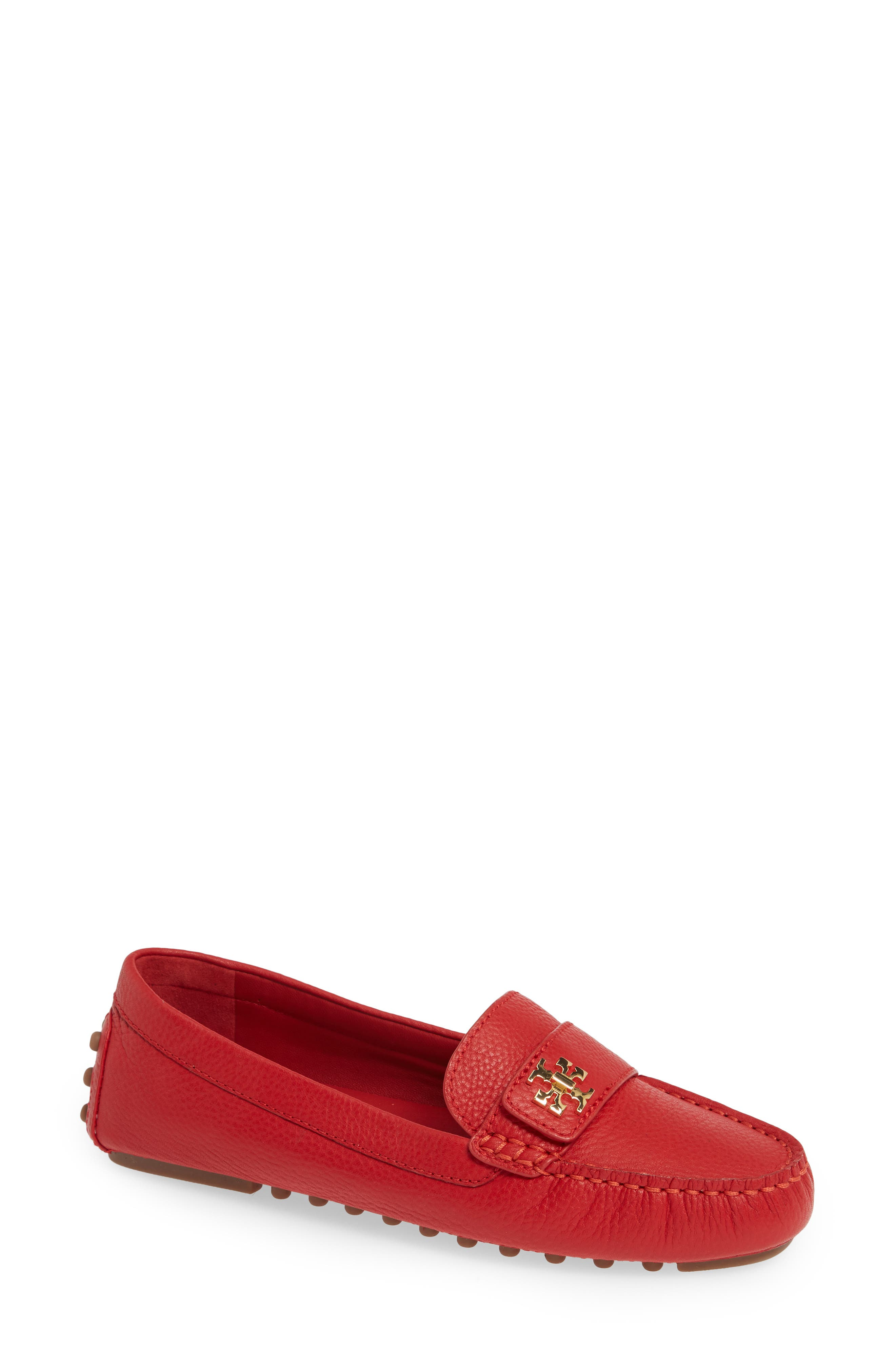 Kira Driving Loafer in Ruby Red
