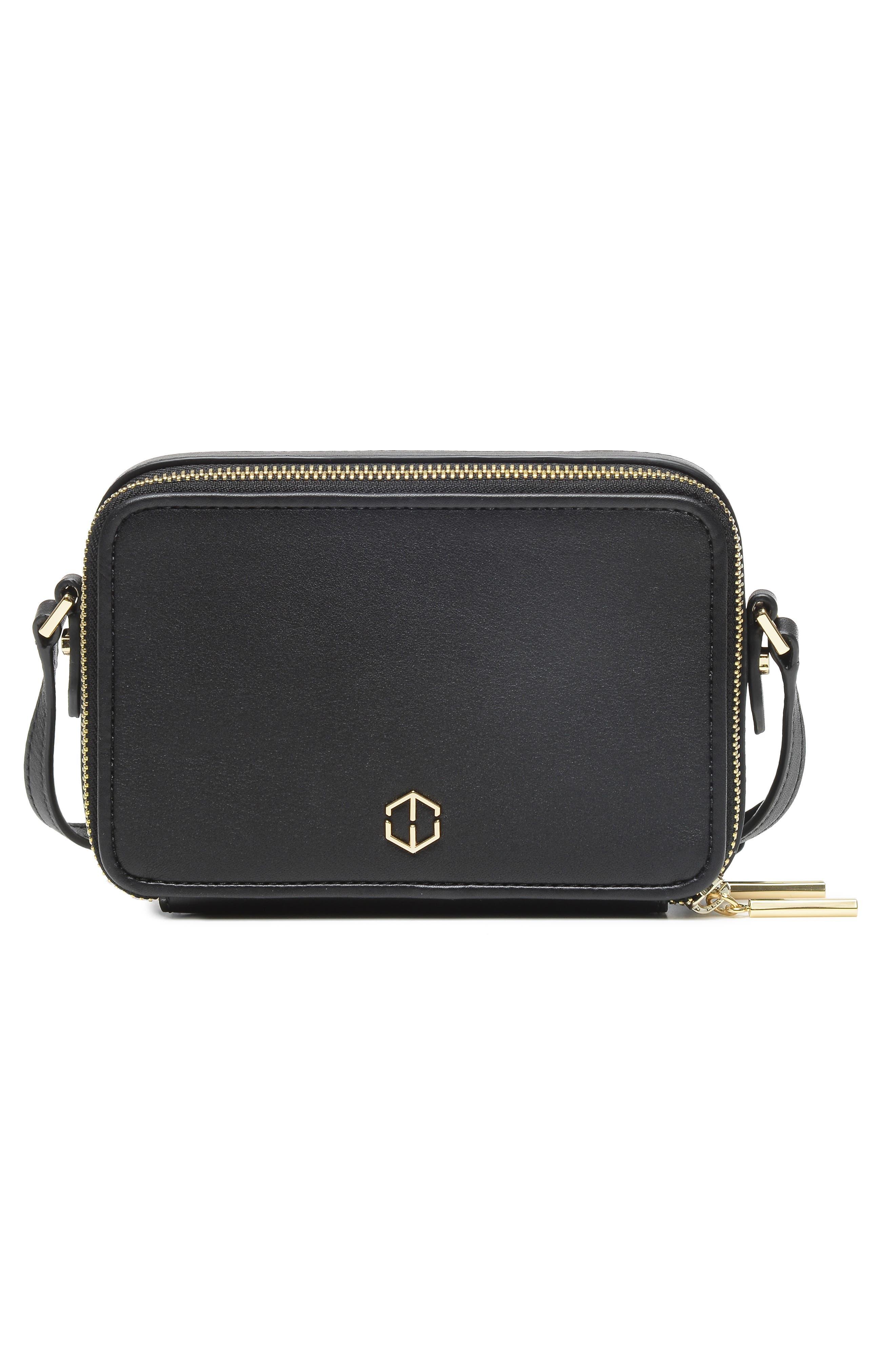 Roam Leather Camera Bag,                             Alternate thumbnail 3, color,                             BLACK