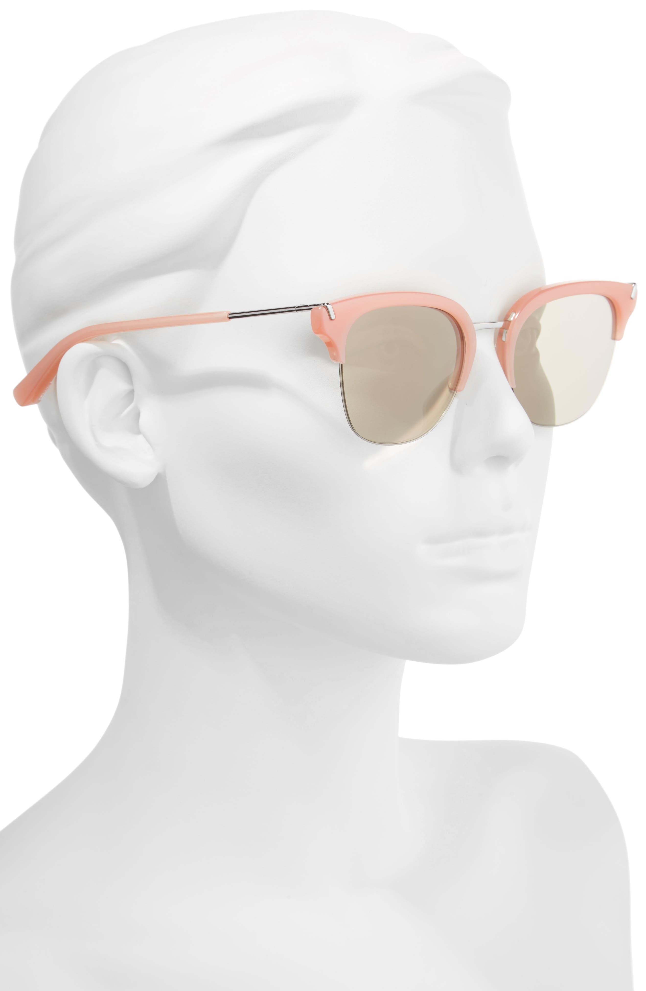 Burke 52mm Horn Rimmed Sunglasses,                             Alternate thumbnail 2, color,                             001