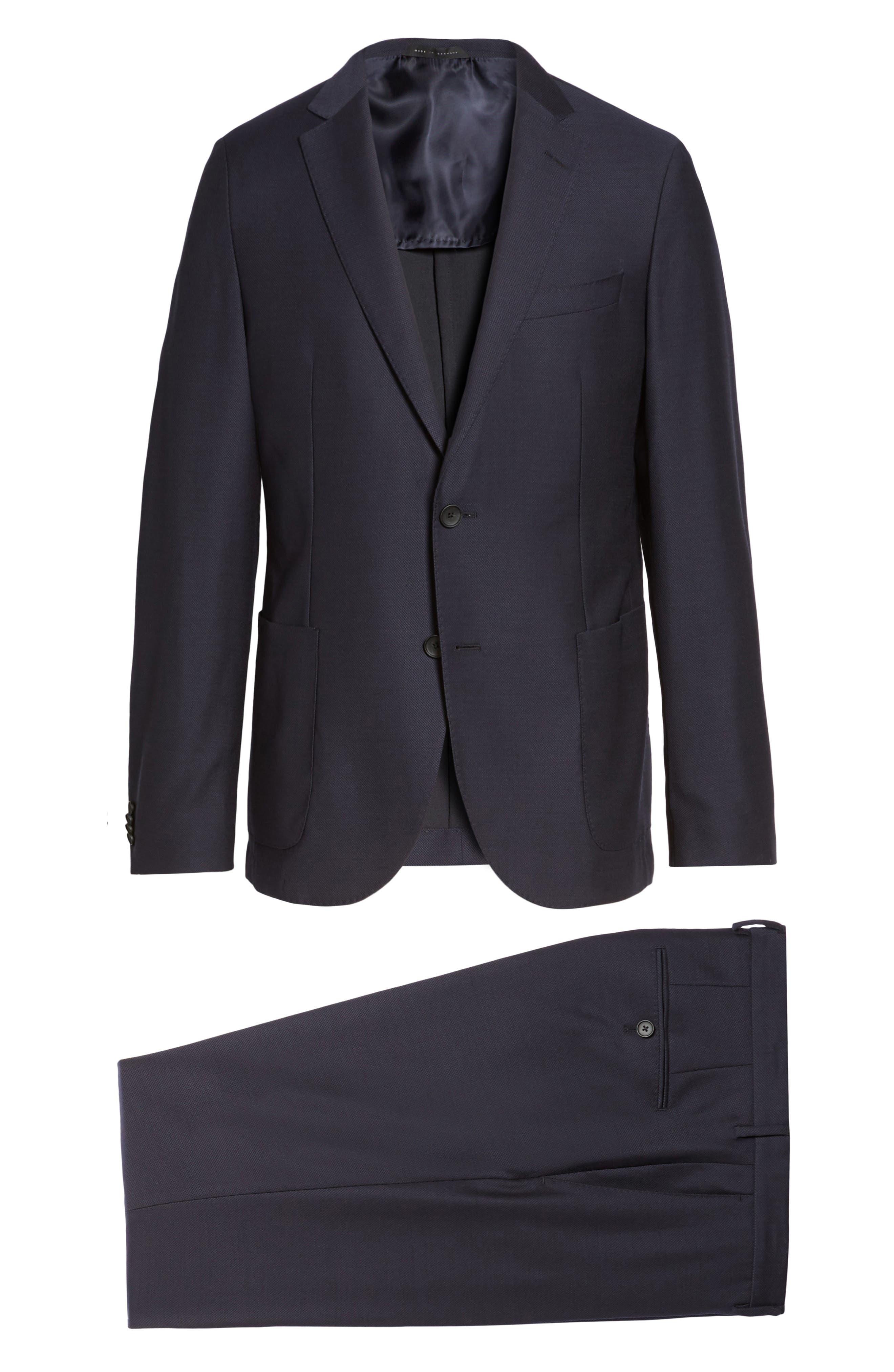 Novan/Ben Classic Fit Solid Wool Suit,                             Alternate thumbnail 8, color,                             410