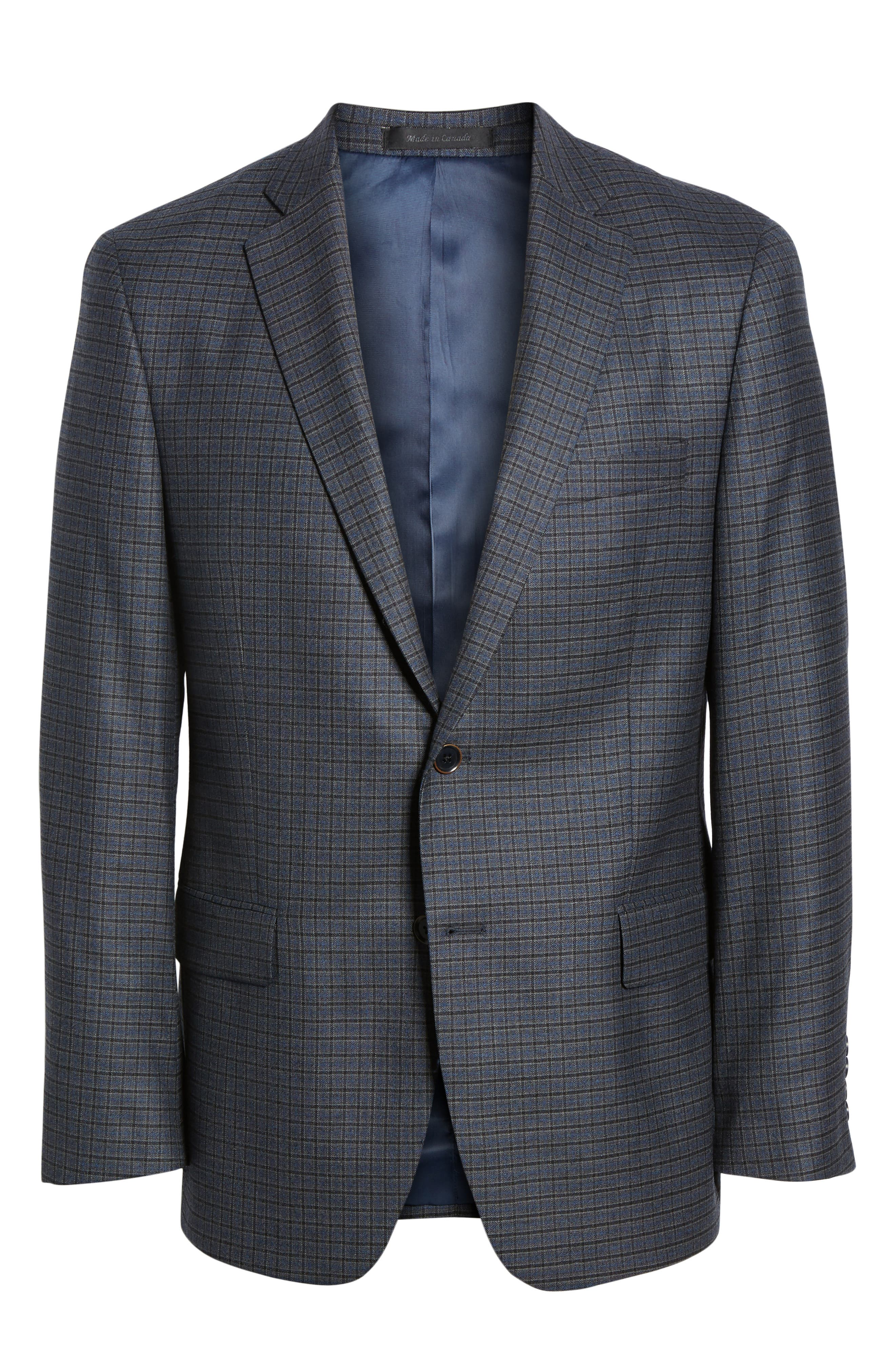 HART SCHAFFNER MARX,                             Classic Fit Stretch Check Wool Sport Coat,                             Alternate thumbnail 5, color,                             420