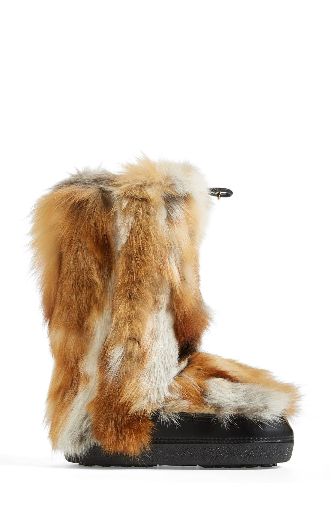 'Danny' Genuine Fox Fur Boot,                             Alternate thumbnail 3, color,                             250