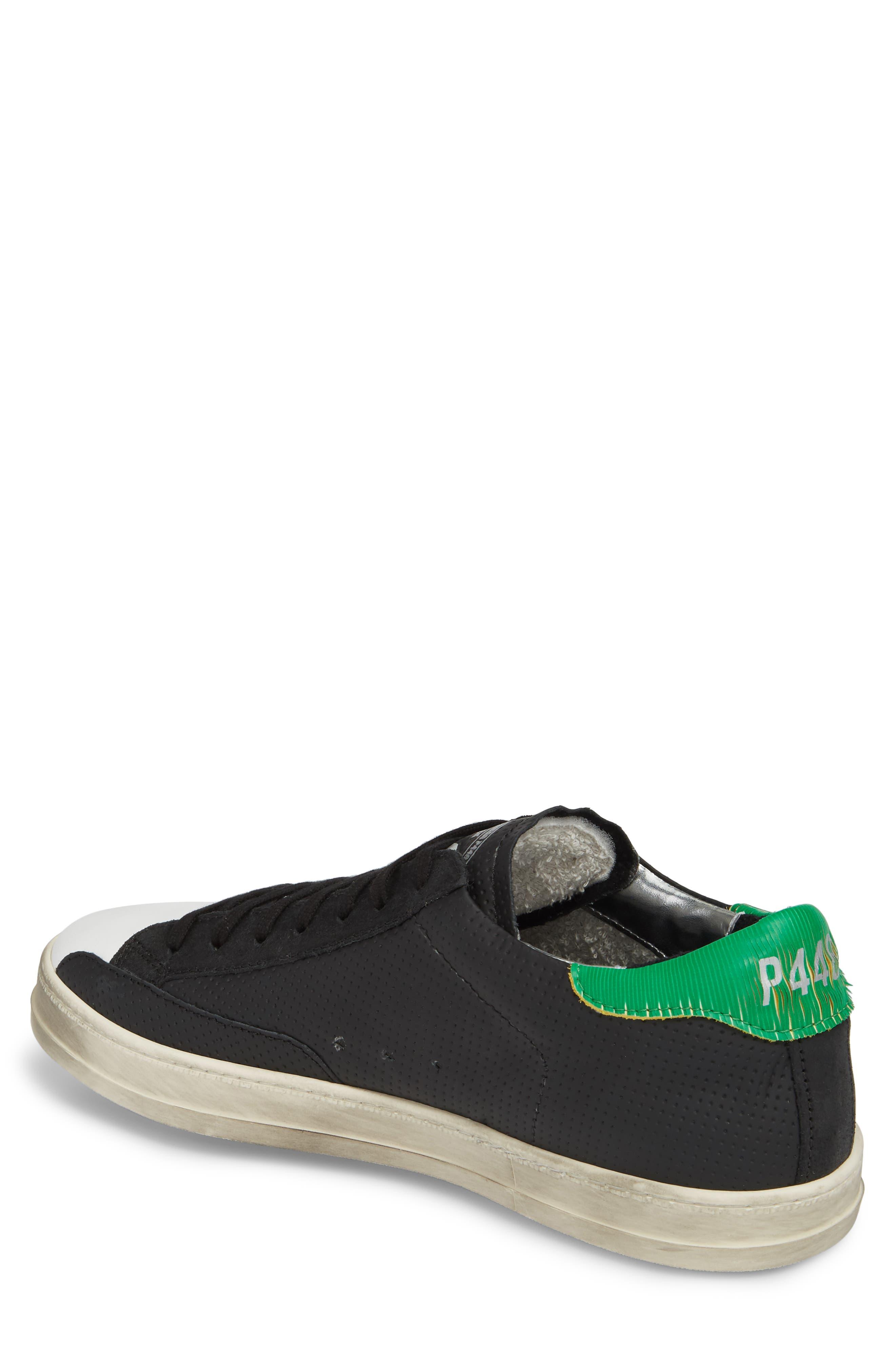 John Low Top Sneaker,                             Alternate thumbnail 2, color,                             BLACK