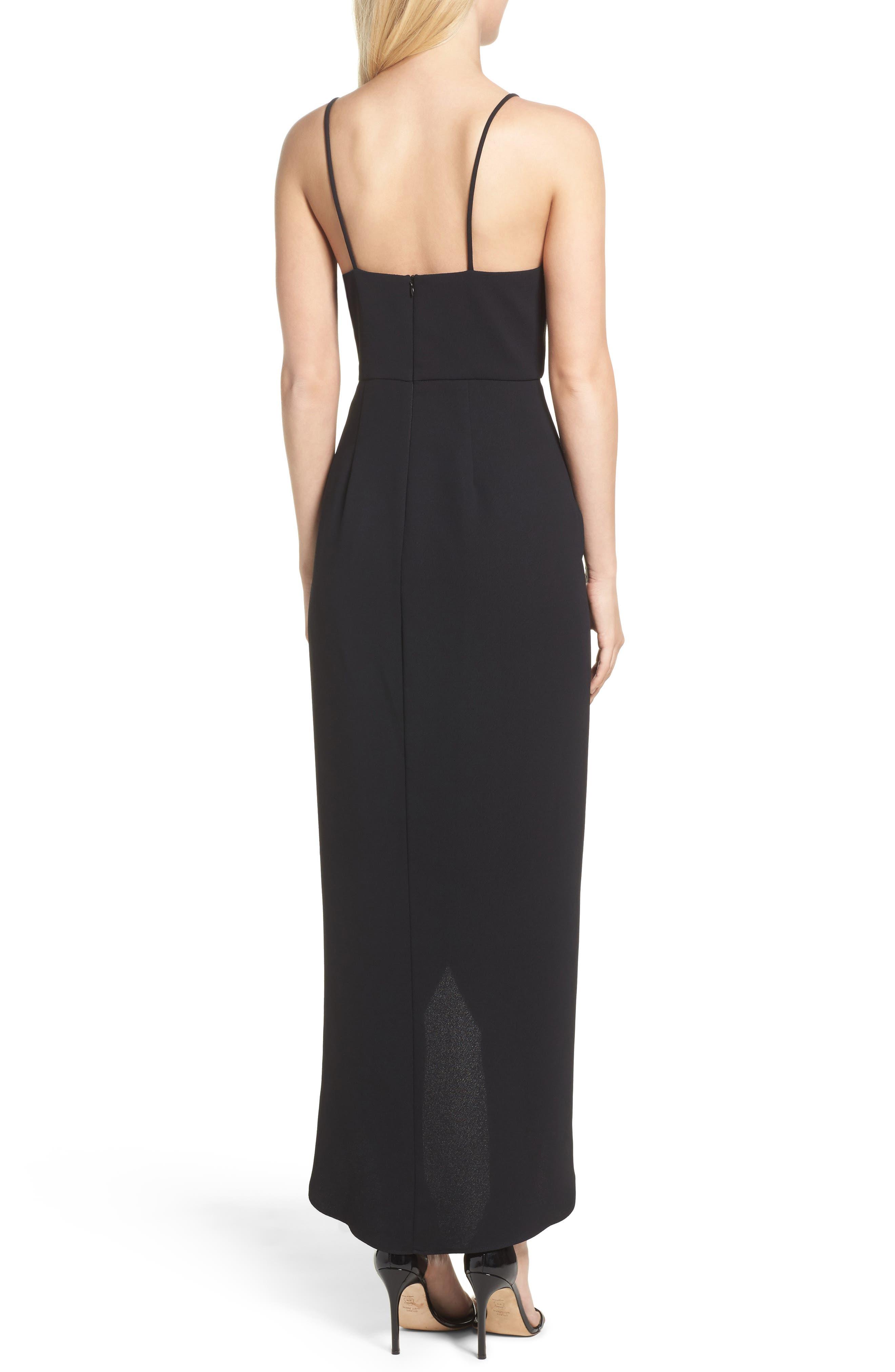 High/Low Dress,                             Alternate thumbnail 2, color,                             BLACK