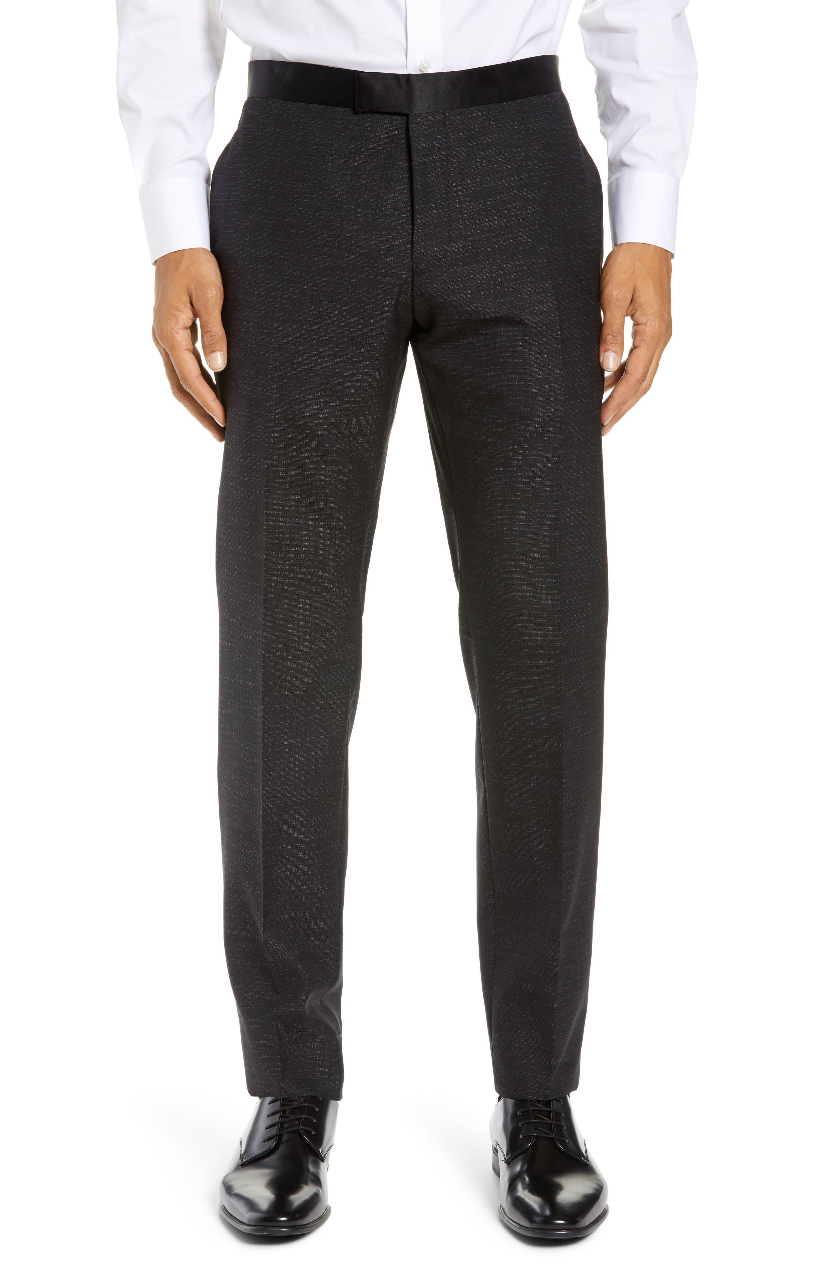 BOSS,                             Rendal/Wilden Slim Fit Three-Piece Tuxedo,                             Alternate thumbnail 7, color,                             BLACK