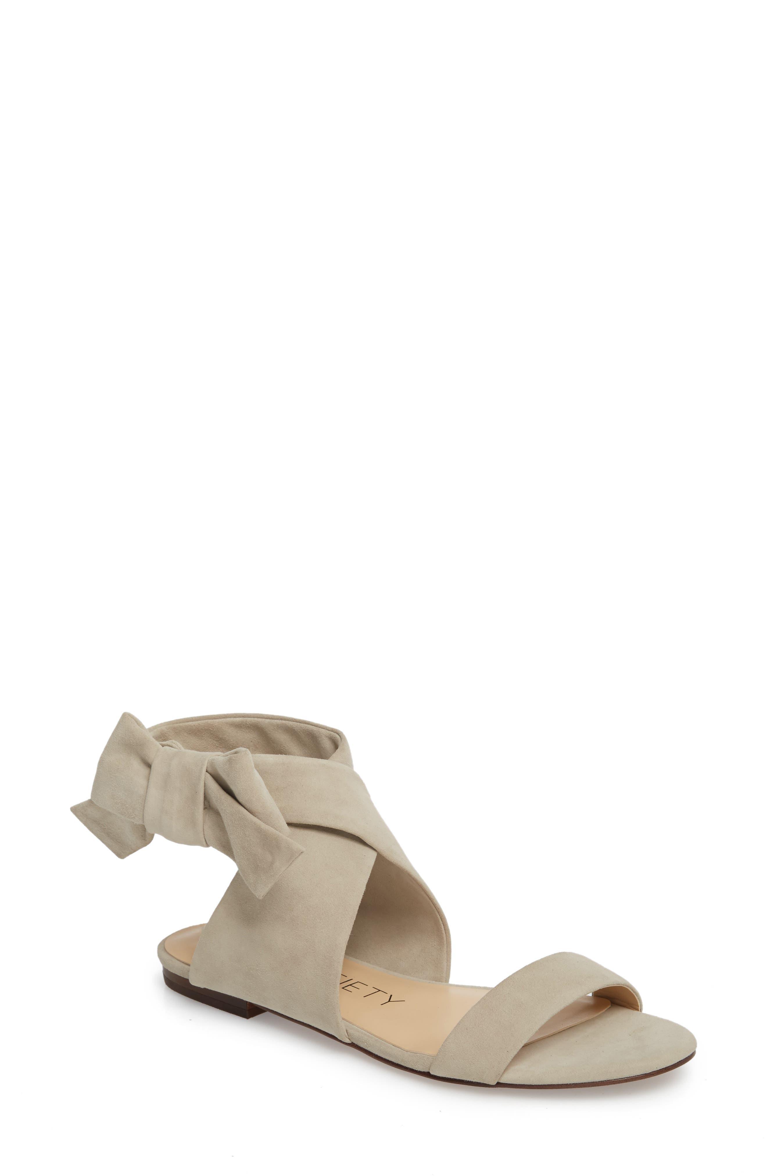 Calynda Bow Ankle Wrap Sandal,                             Main thumbnail 1, color,                             020