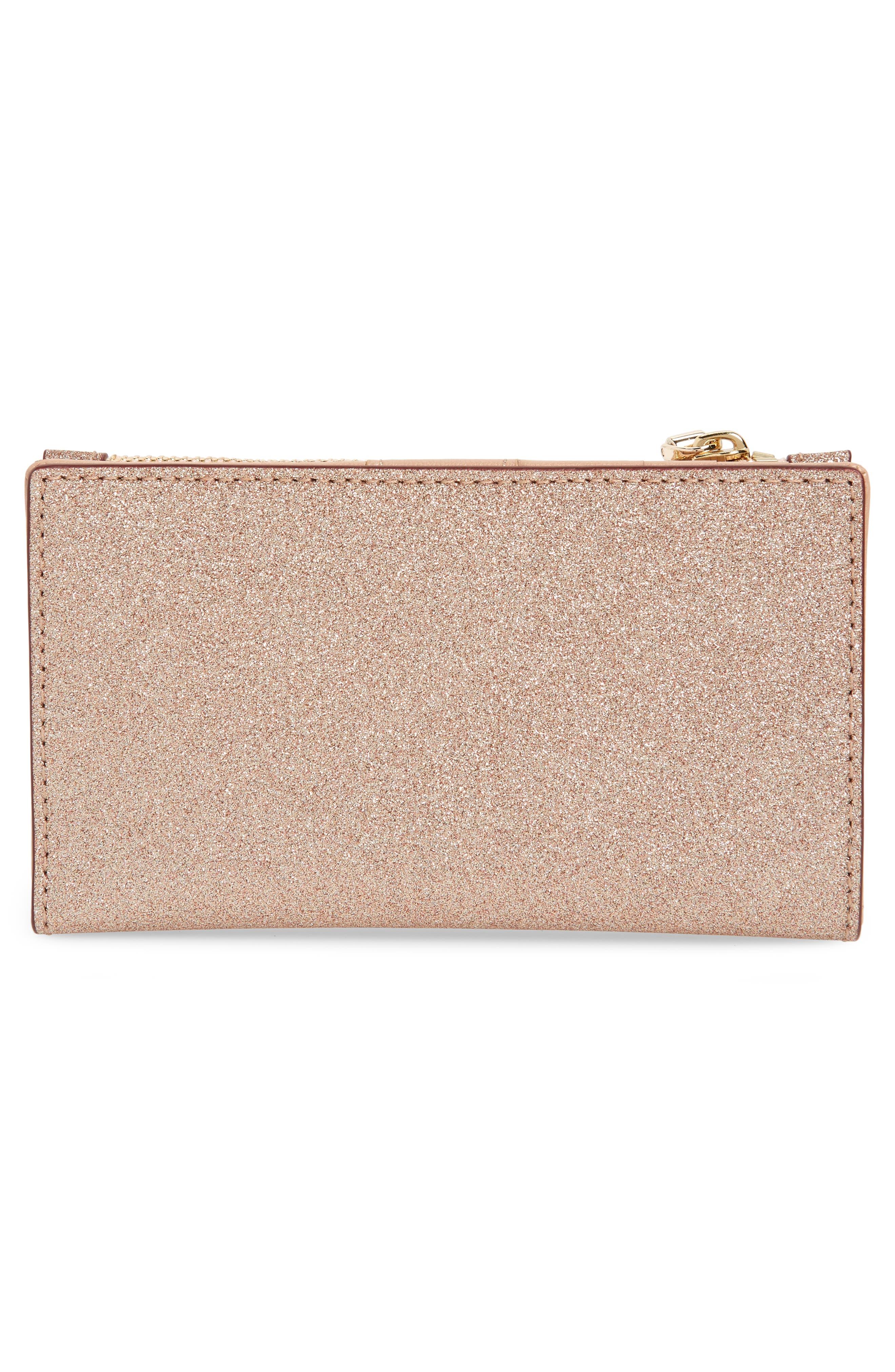 burgess court mikey wallet,                             Alternate thumbnail 4, color,                             ROSE GOLD