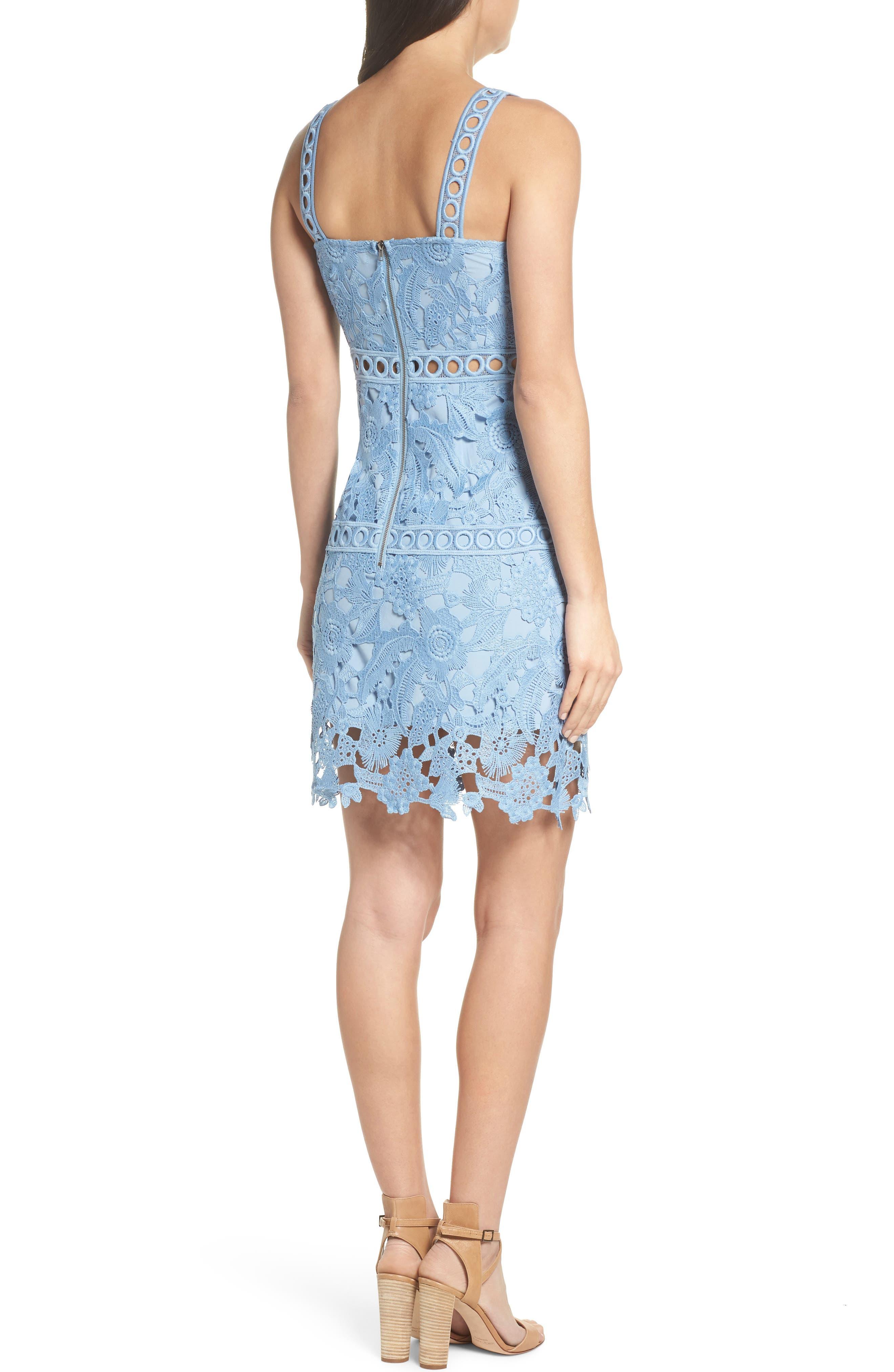 Lace Sheath Dress,                             Alternate thumbnail 2, color,                             435