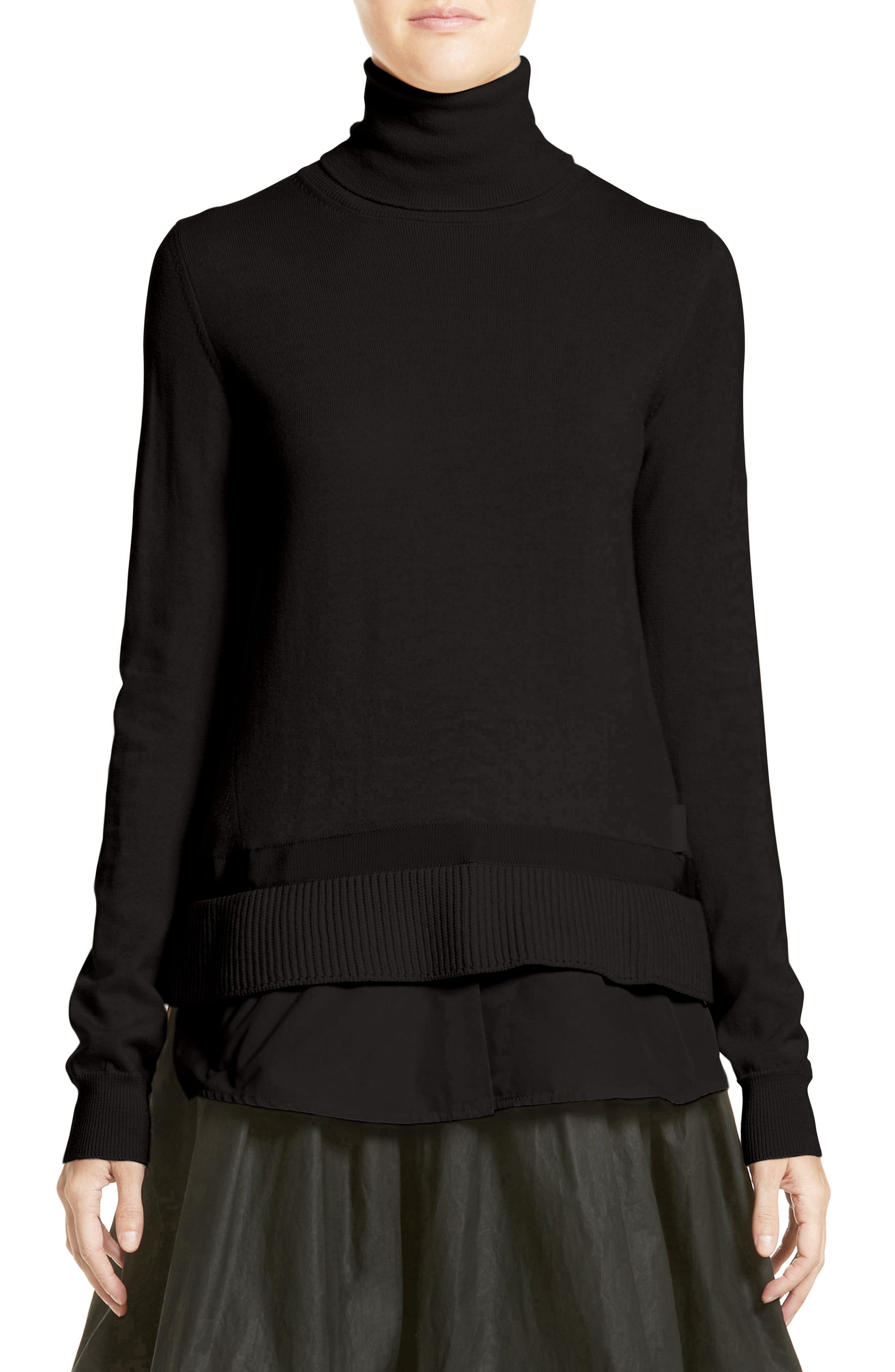 Ciclista Tricot Knit Wool Turtleneck Sweater,                         Main,                         color, 001