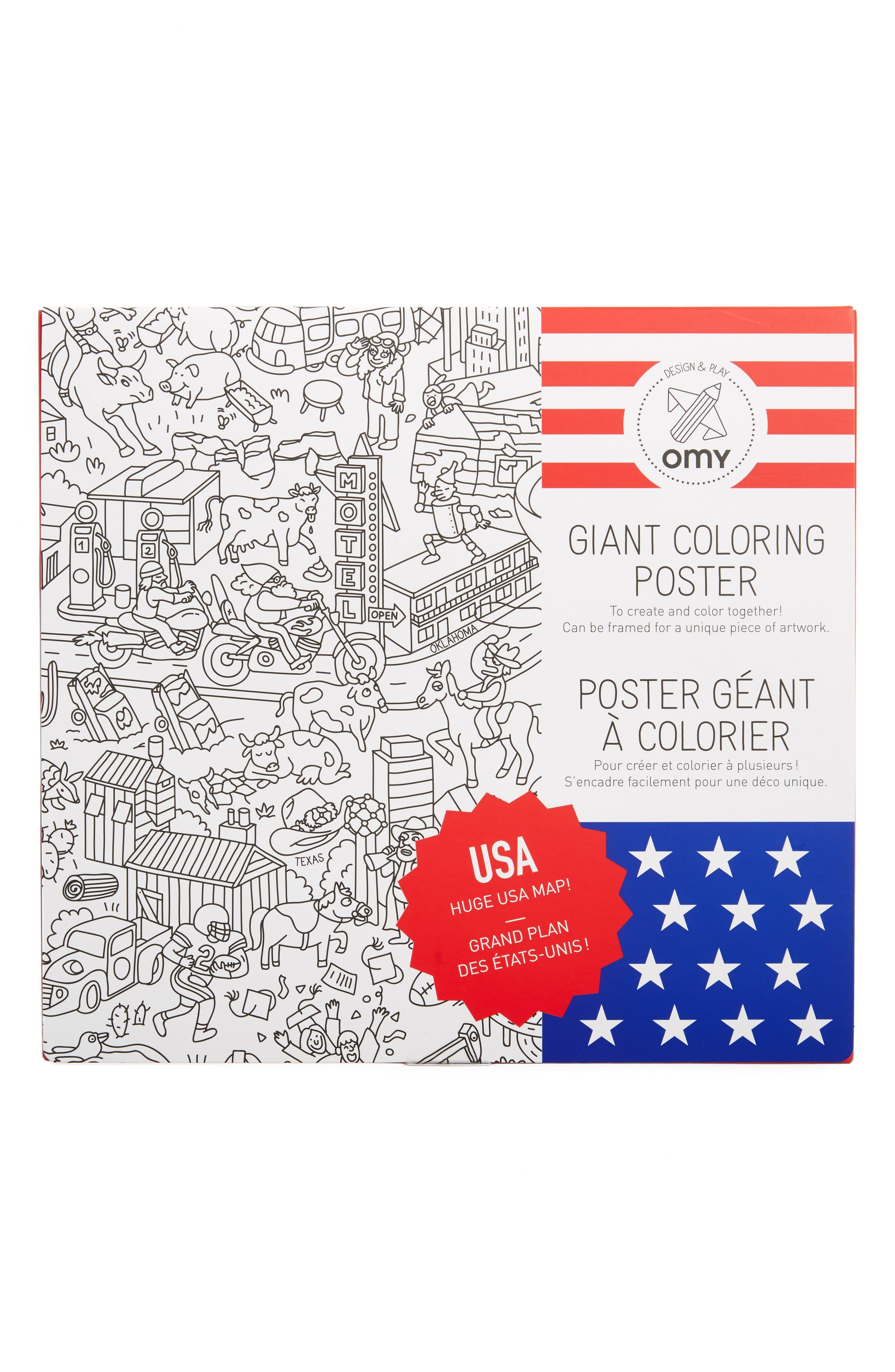 USA Giant Coloring Poster,                             Main thumbnail 1, color,                             100