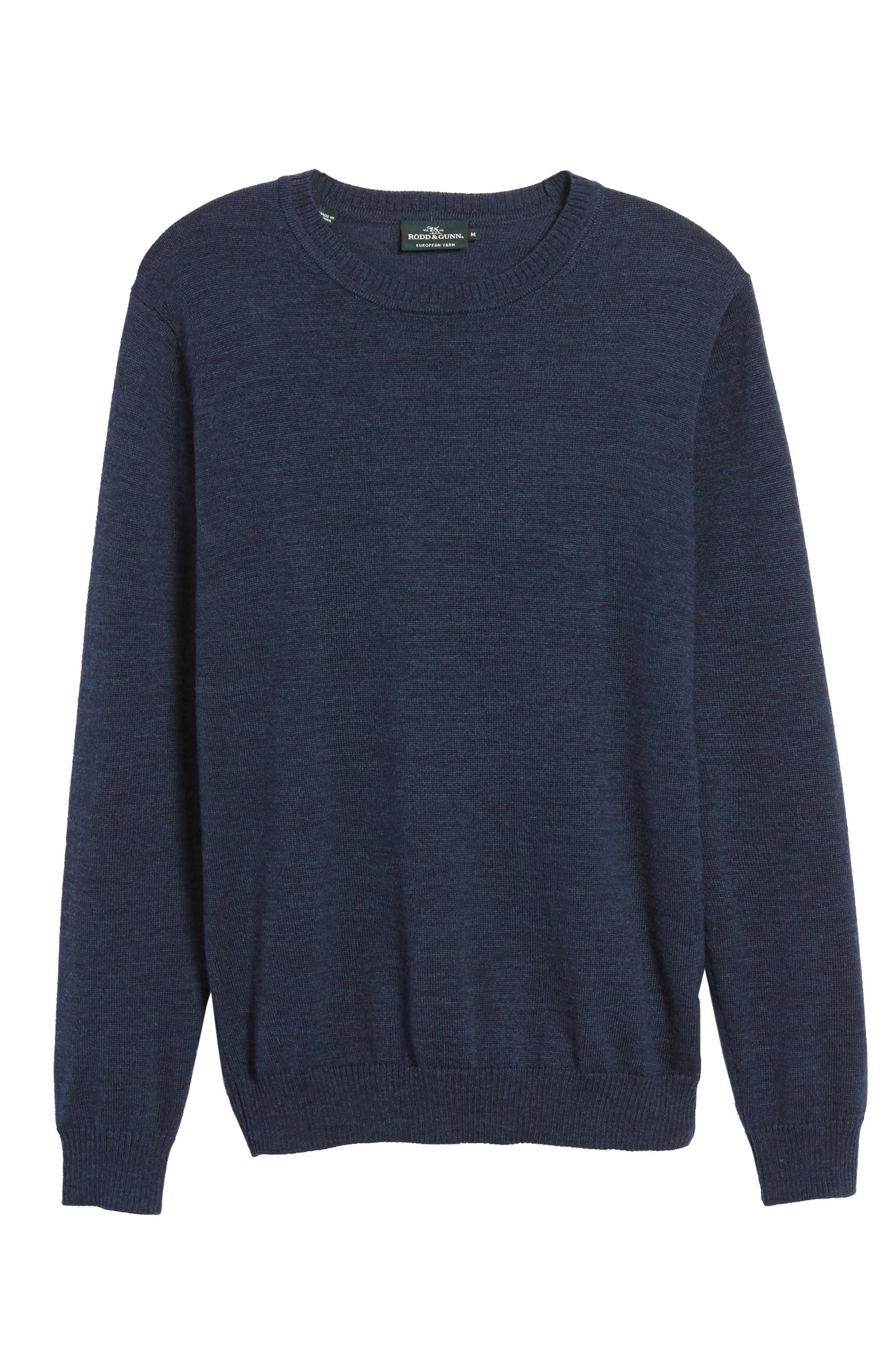Bannockburn Mélange Merino Wool Sweater,                             Alternate thumbnail 6, color,                             401