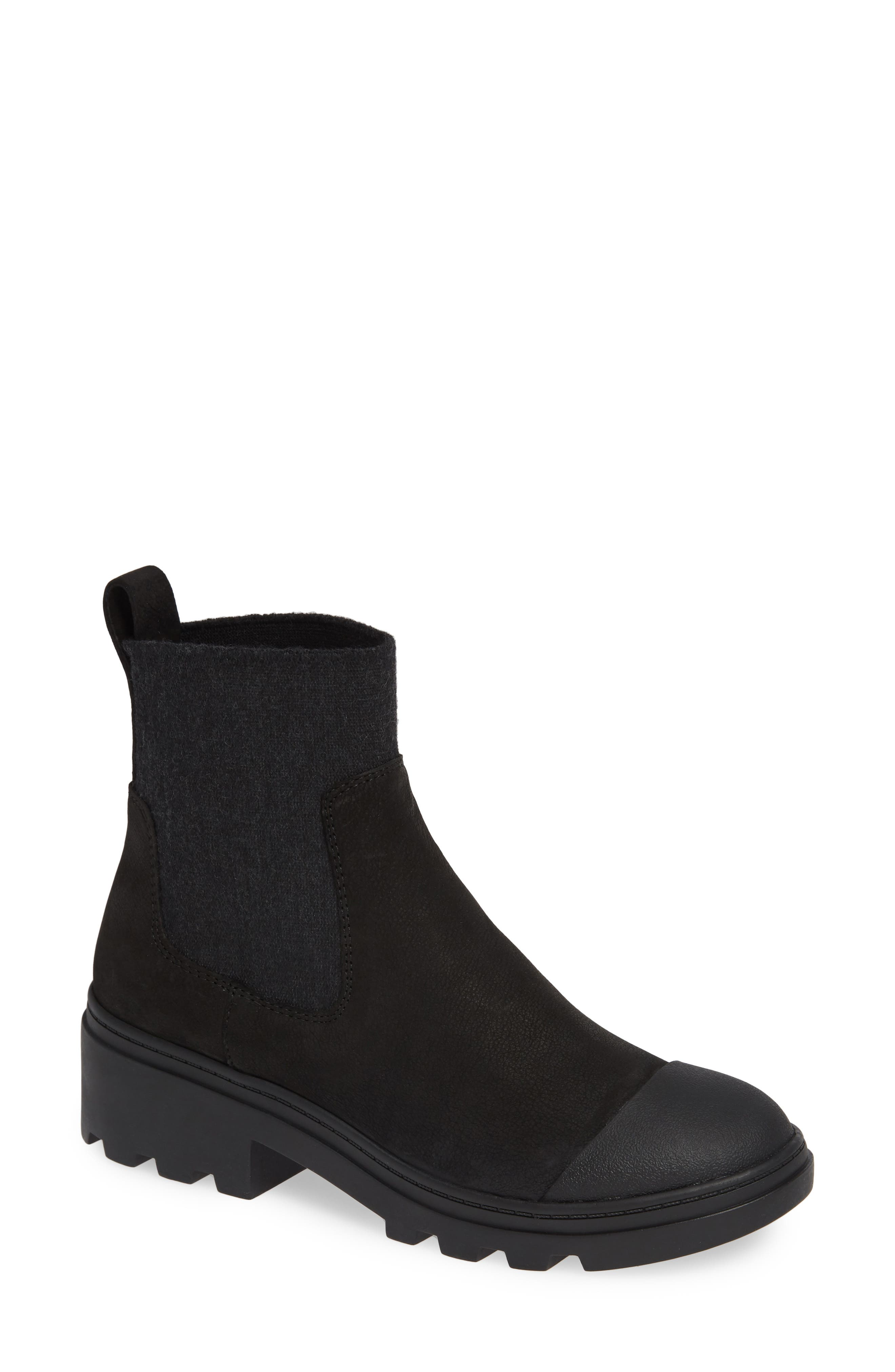 EILEEN FISHER,                             Teddy Bootie,                             Main thumbnail 1, color,                             001