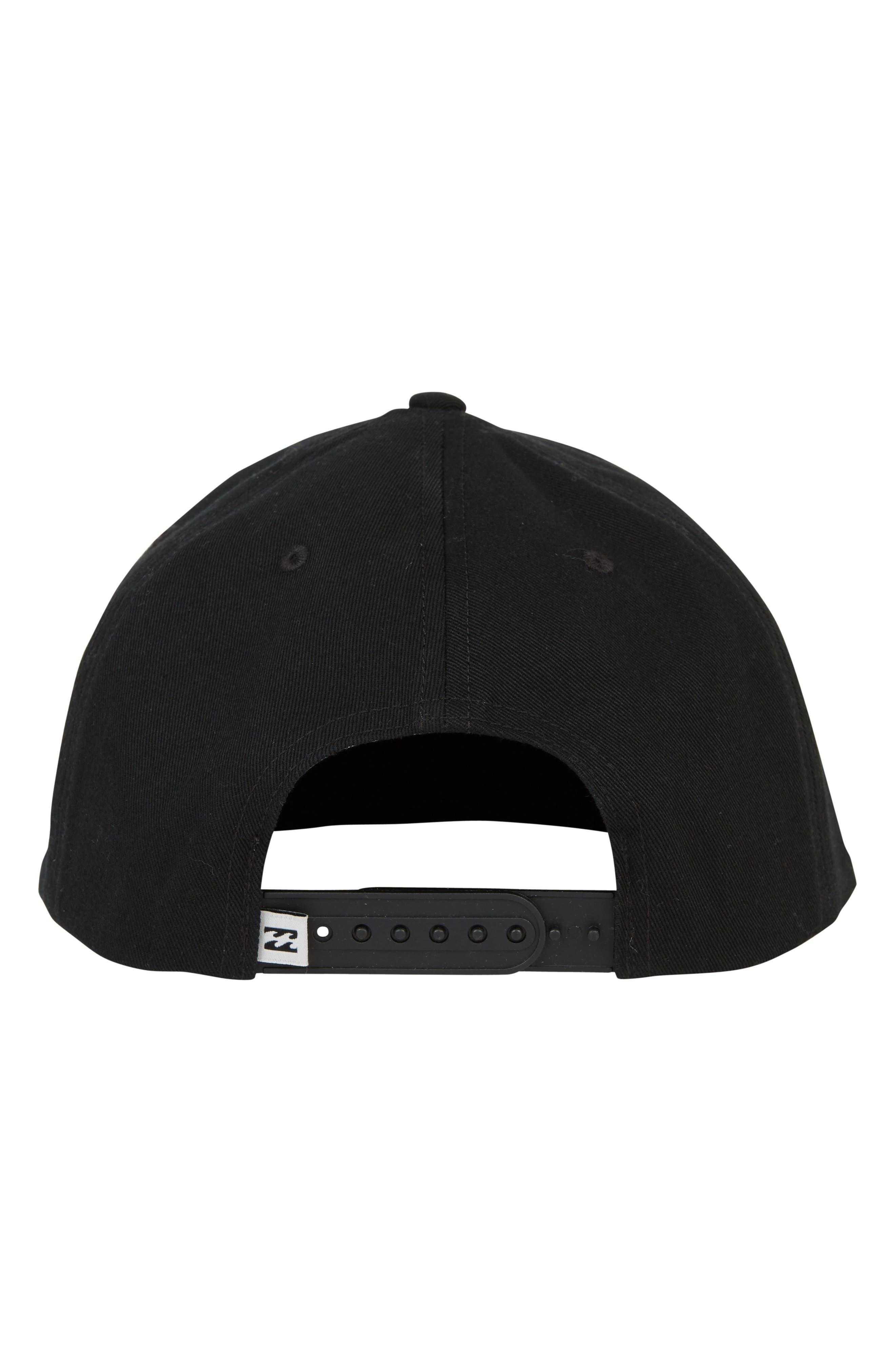 Plateau Snapback Baseball Cap,                             Alternate thumbnail 3, color,                             BLACK