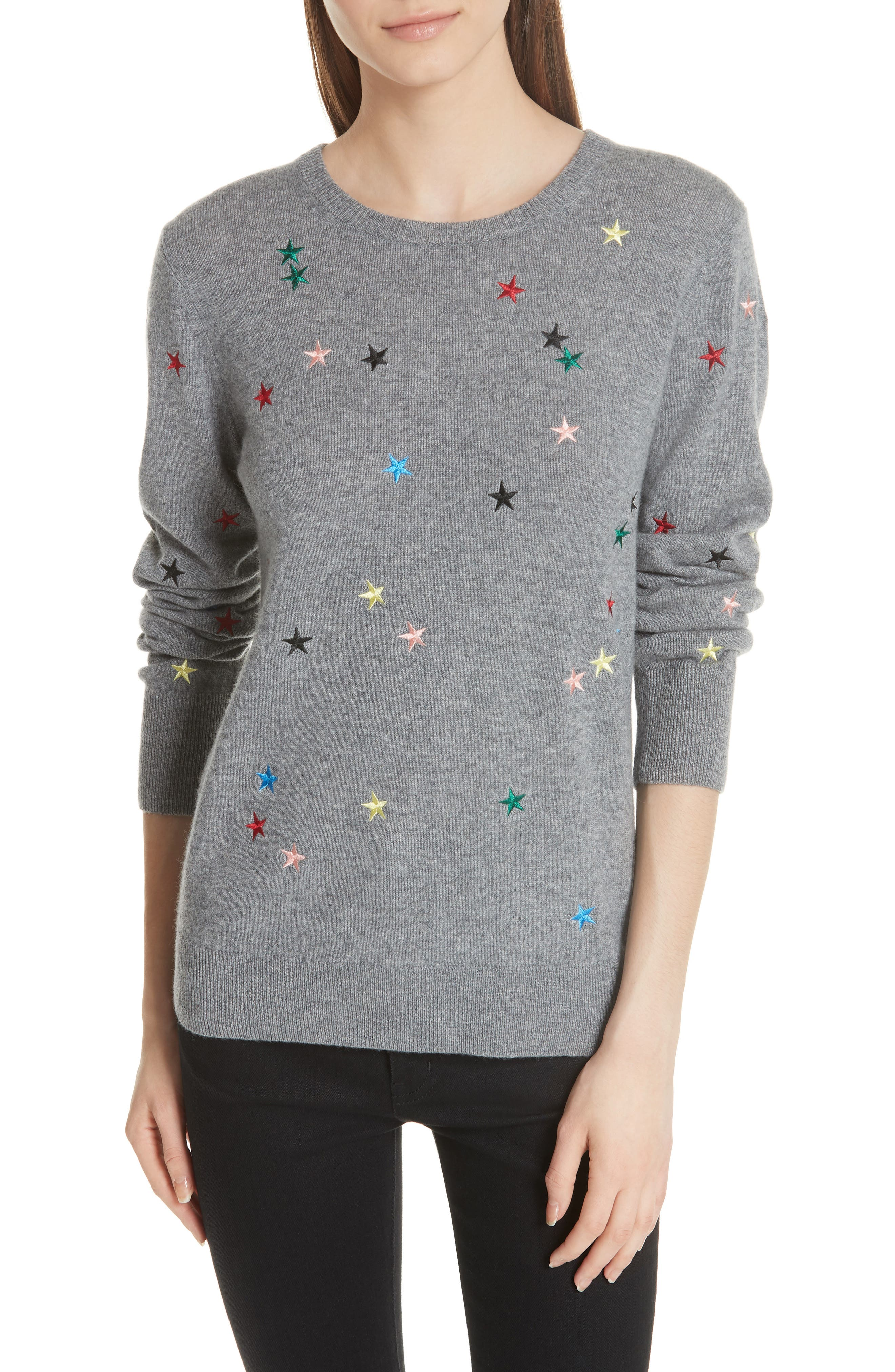 Shane Star Cashmere Sweater,                             Main thumbnail 1, color,                             030