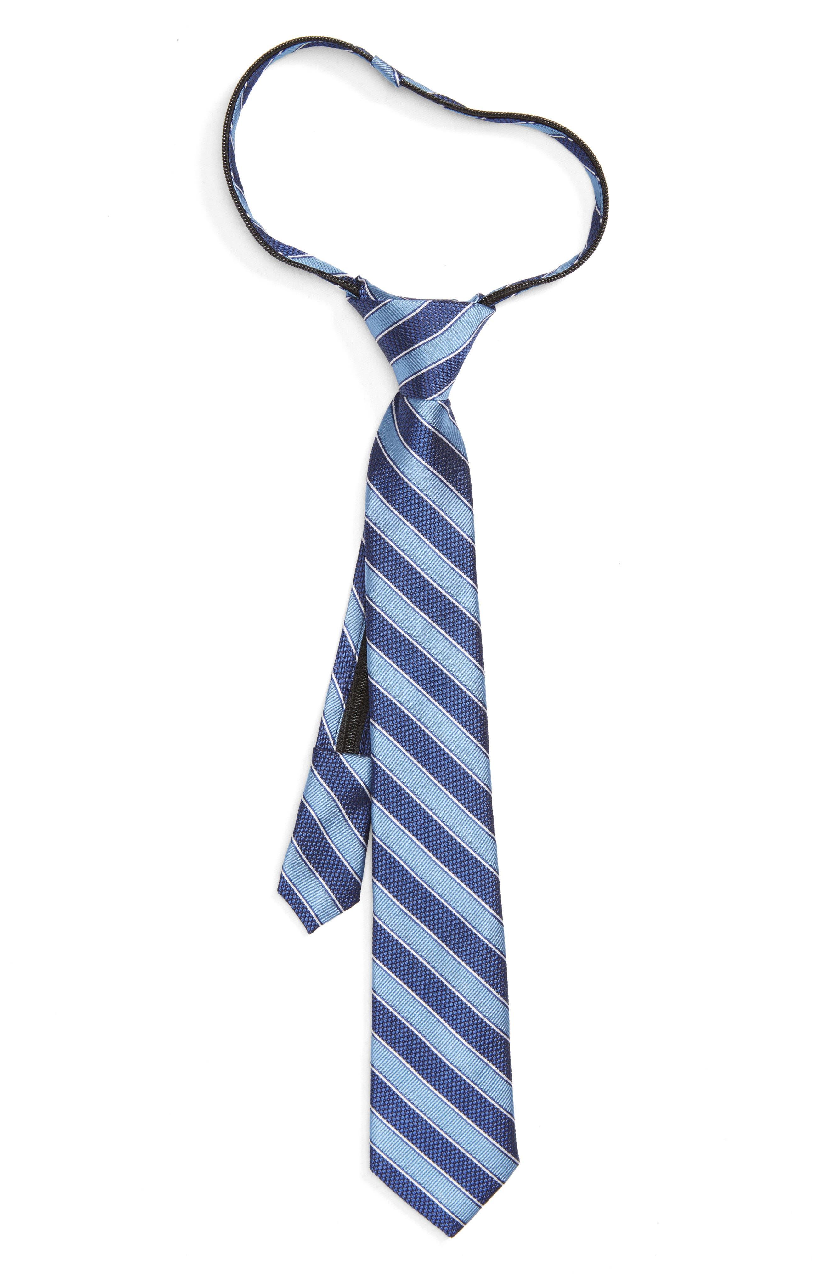 Stripe Silk Zip Tie,                             Main thumbnail 1, color,                             455