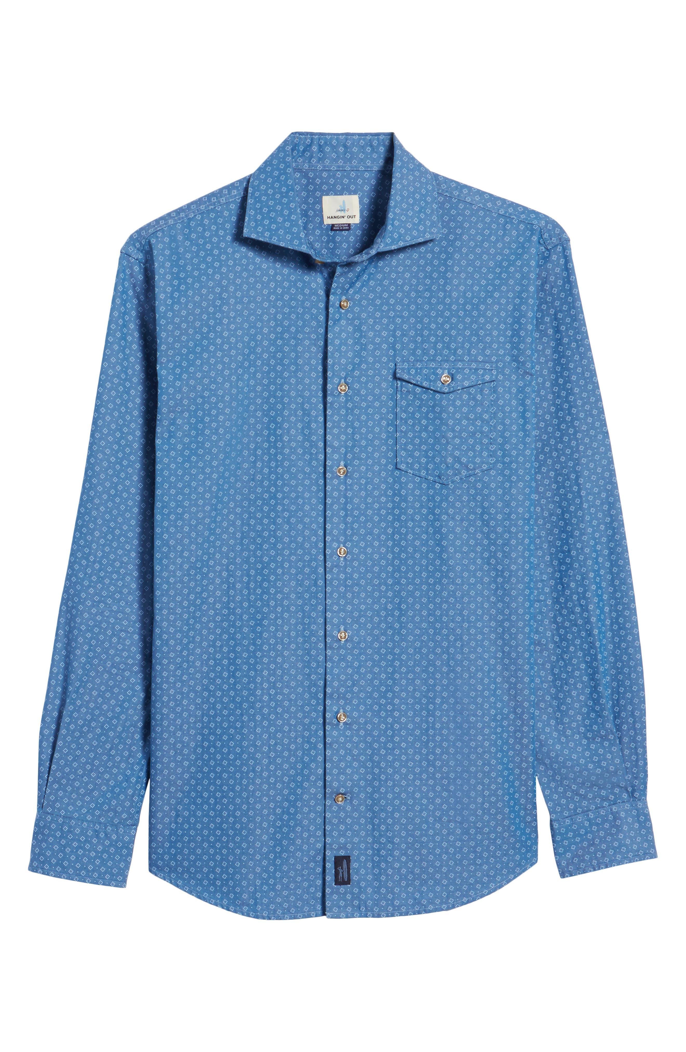 Barclay Regular Fit Sport Shirt,                             Alternate thumbnail 6, color,                             250