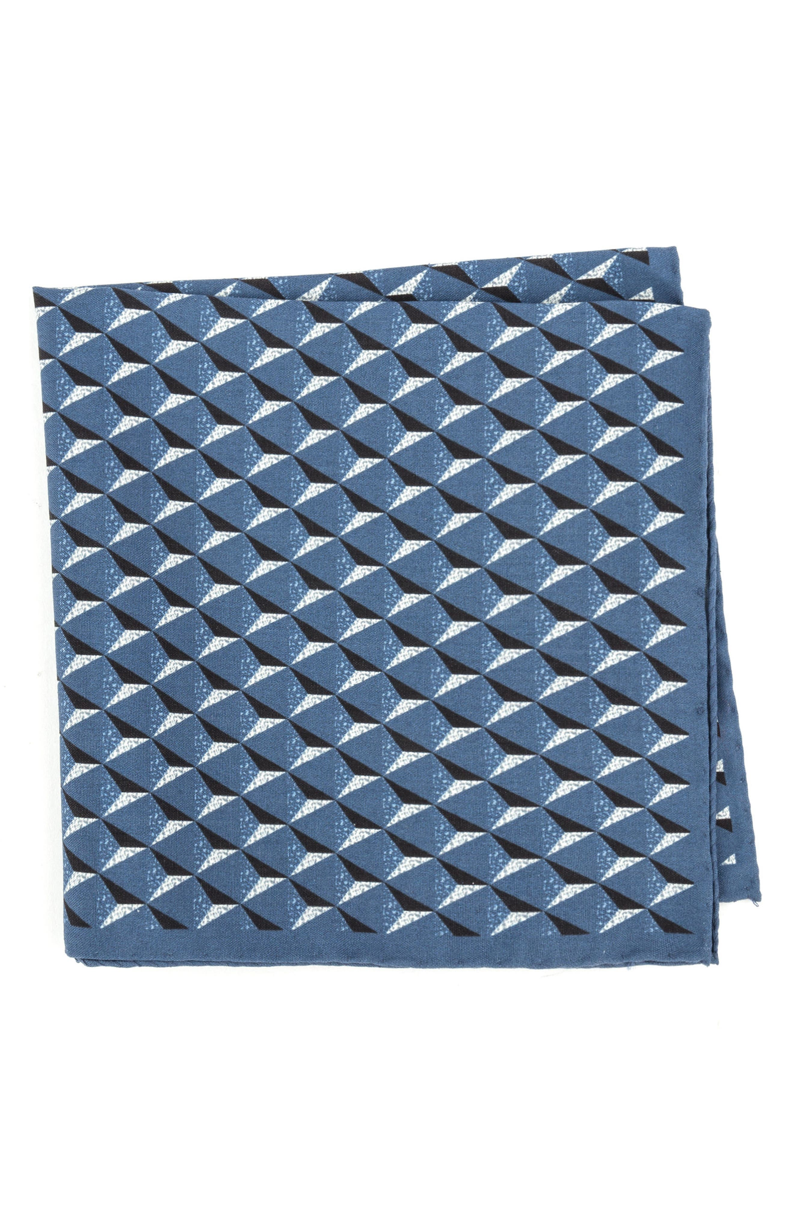 Geometric Silk Pocket Square,                             Main thumbnail 3, color,