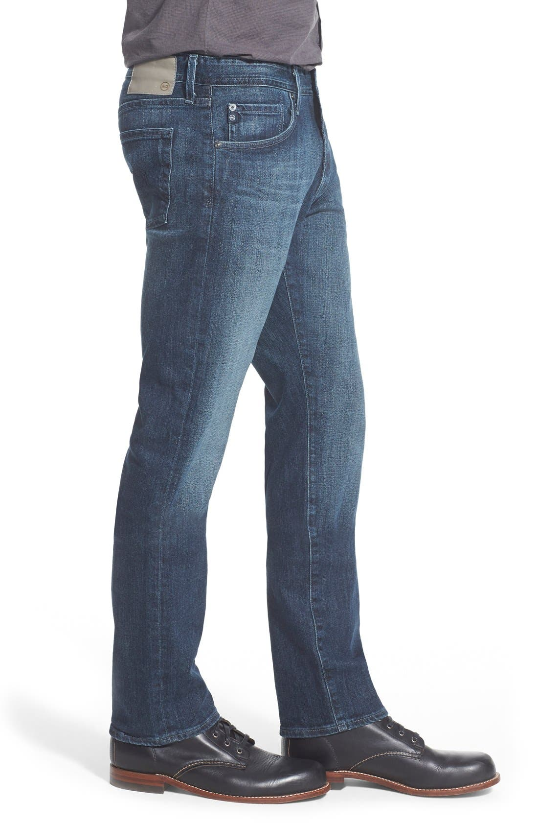 'Graduate' Slim Straight Leg Jeans,                             Alternate thumbnail 3, color,                             STALLOW