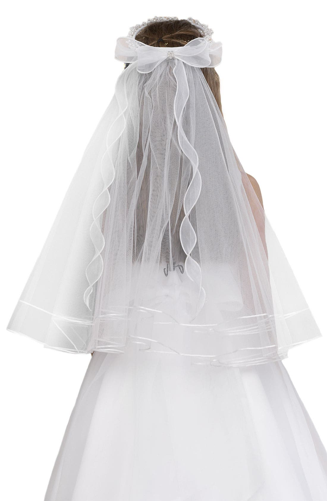Wreath with Removable Veil,                             Alternate thumbnail 2, color,                             100