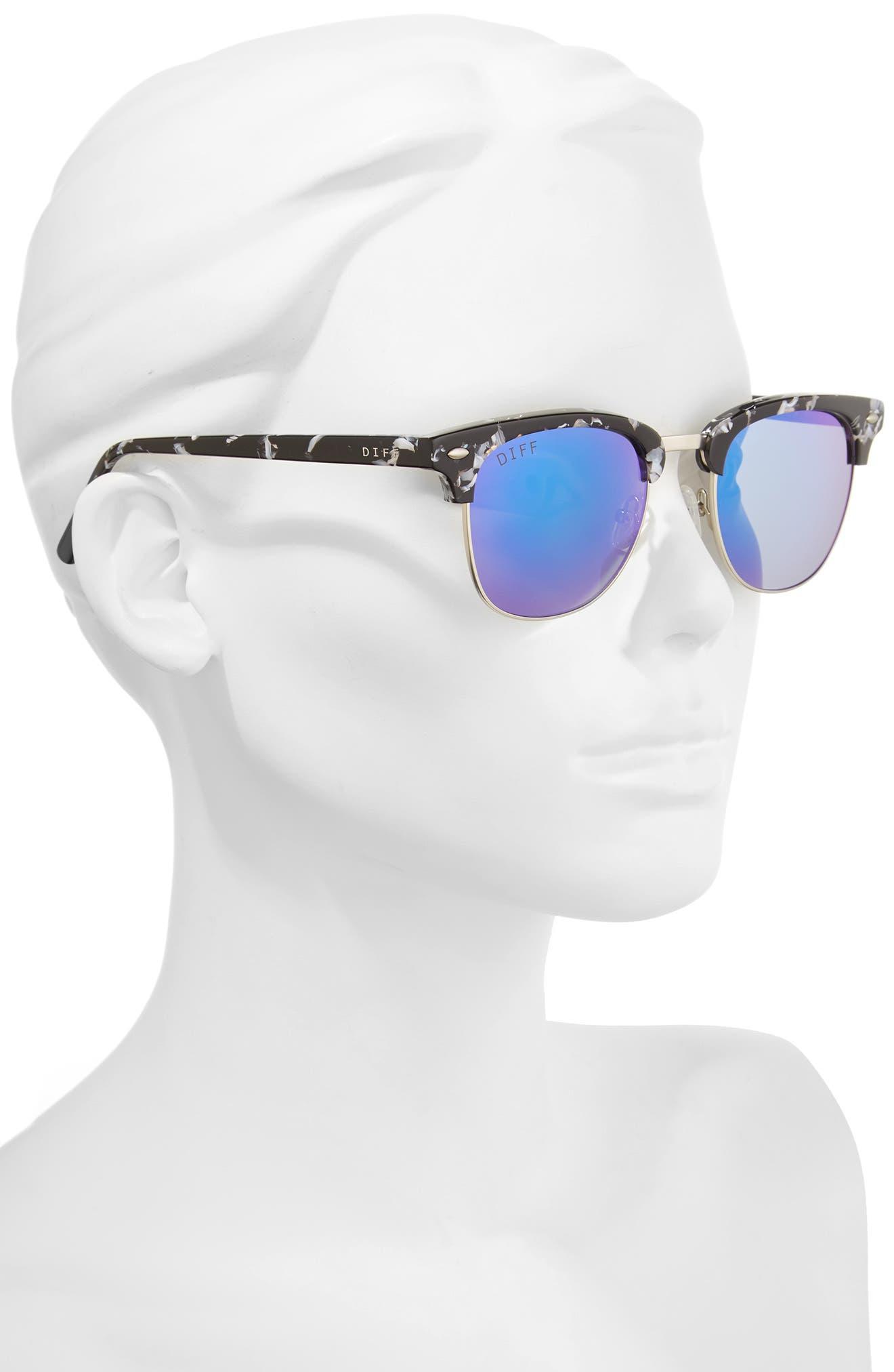Barry 51mm Polarized Retro Sunglasses,                             Alternate thumbnail 8, color,