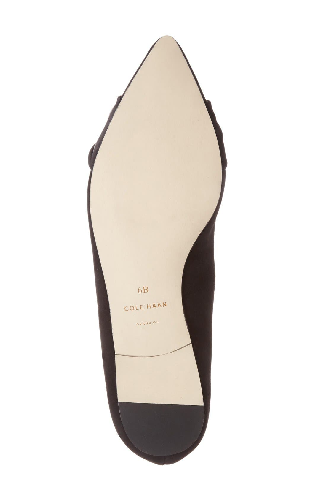 COLE HAAN,                             'Hadley' Skimmer Flat,                             Alternate thumbnail 3, color,                             001