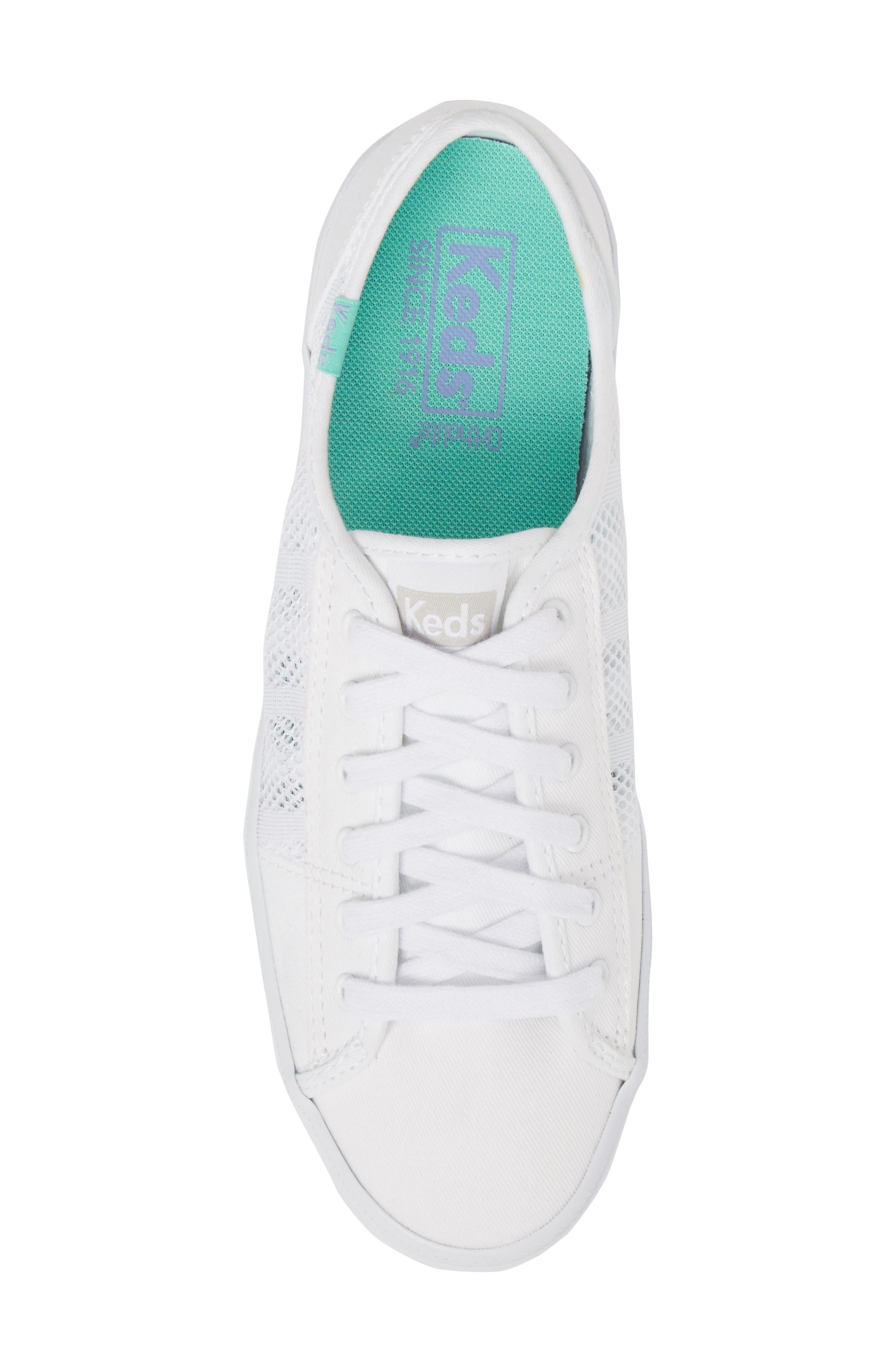 Kickstart Stripe Mesh Sneaker,                             Alternate thumbnail 5, color,                             100