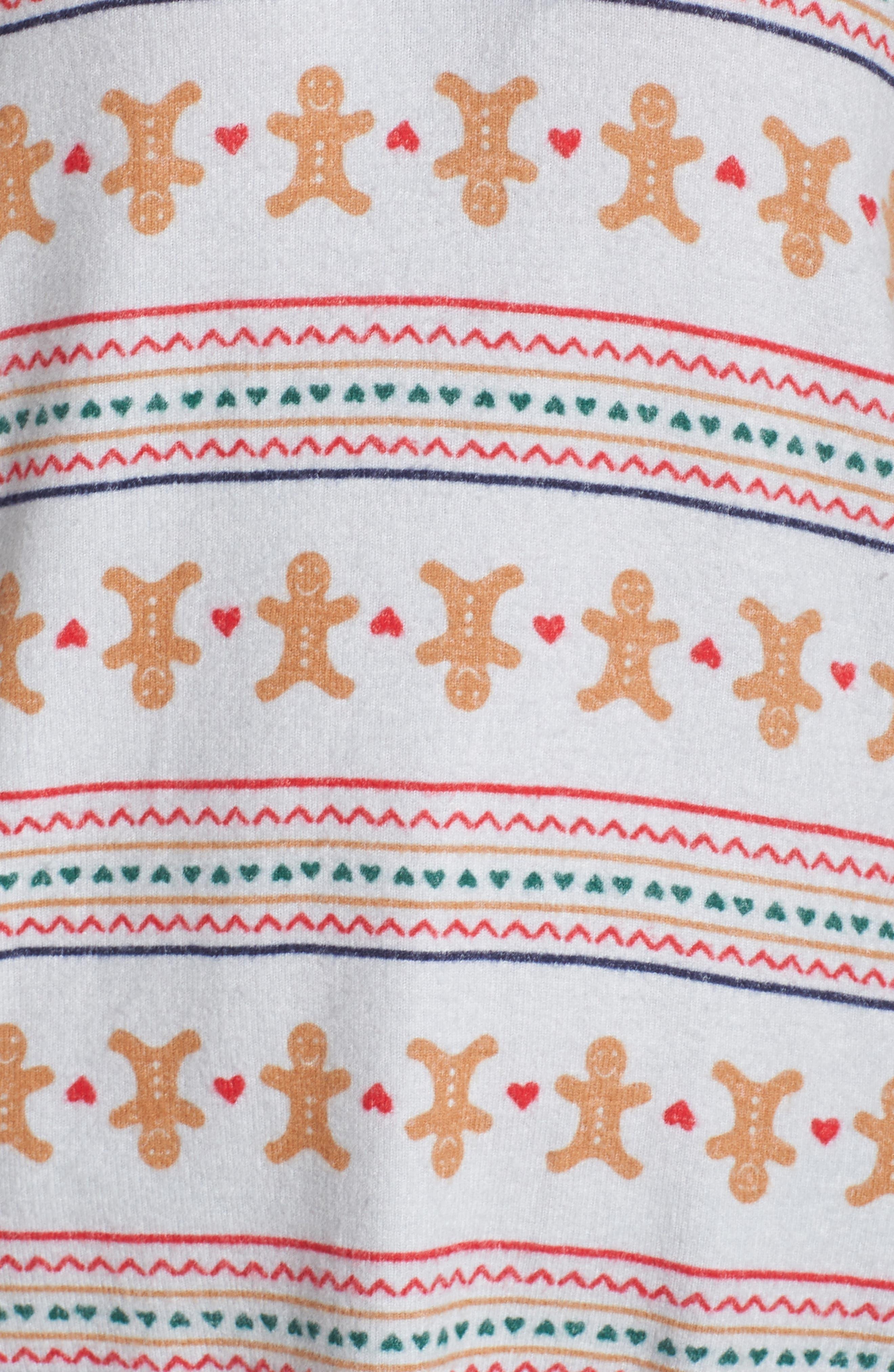 Knit Girlfriend Pajamas & Eye Mask,                             Alternate thumbnail 5, color,                             GREY MICRO GINGERBREAD