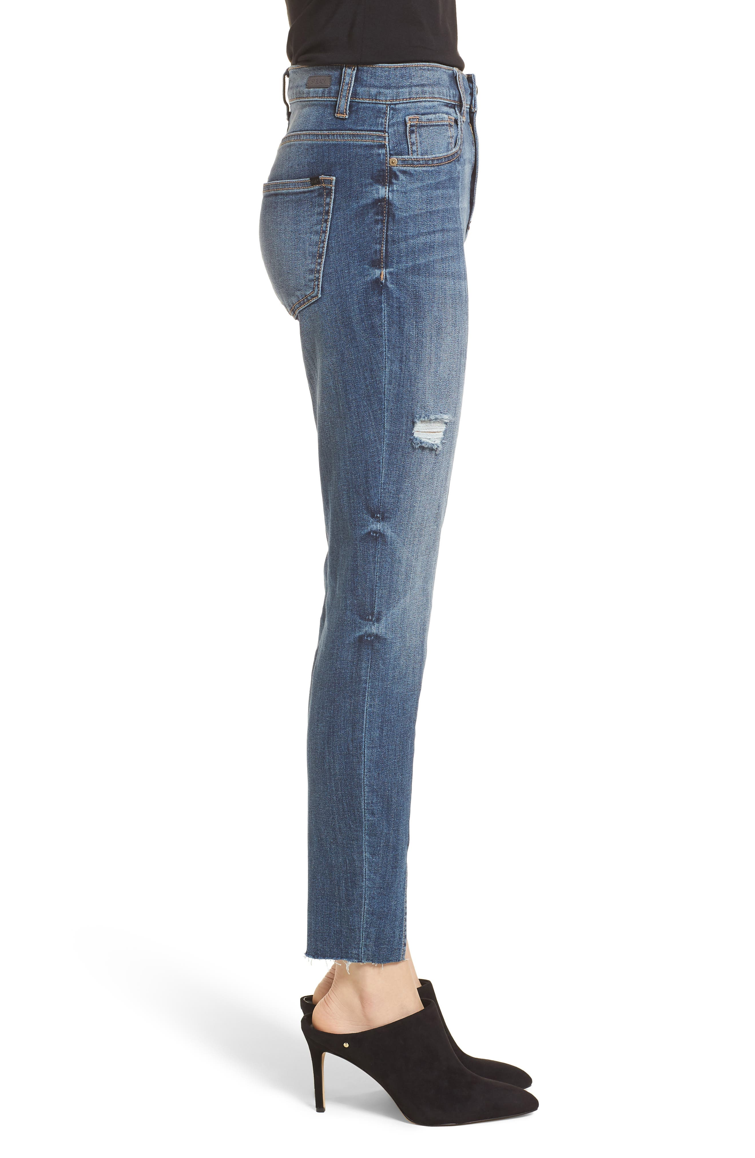 Split Hem Skinny Jeans,                             Alternate thumbnail 3, color,